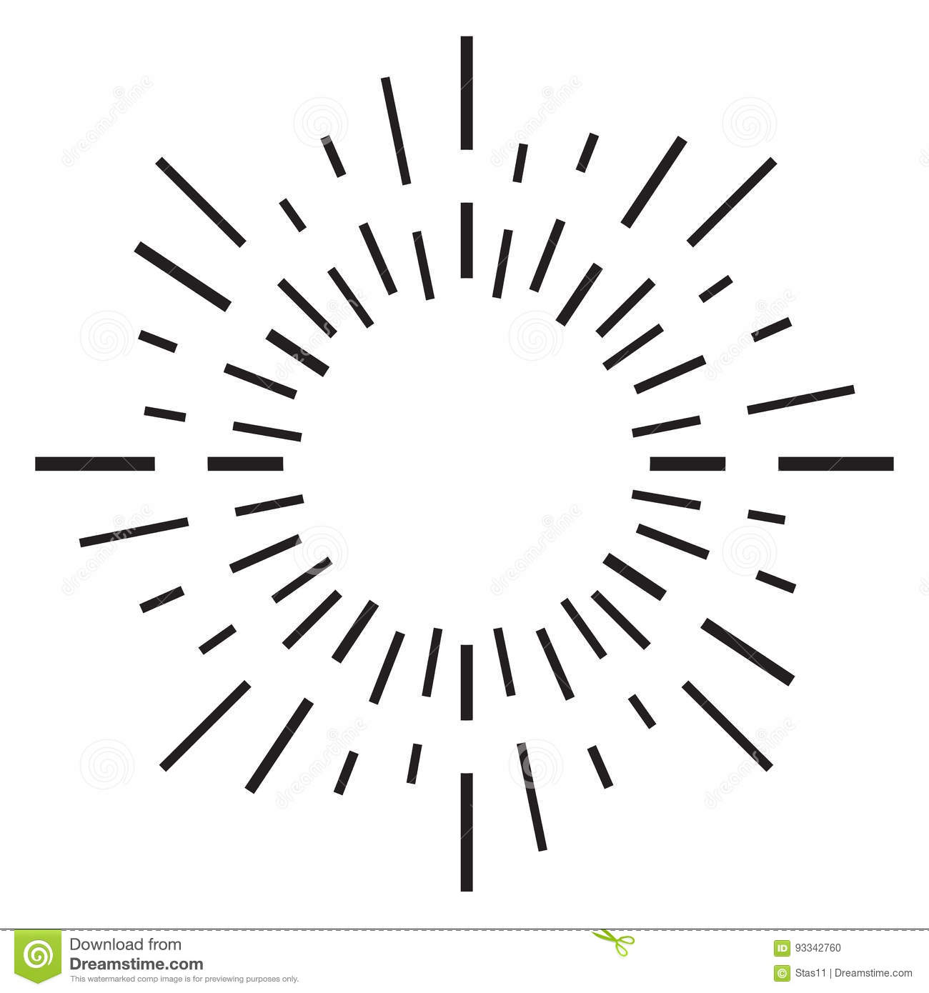 Sun Rays Hand Drawn Linear Drawing Background Vector