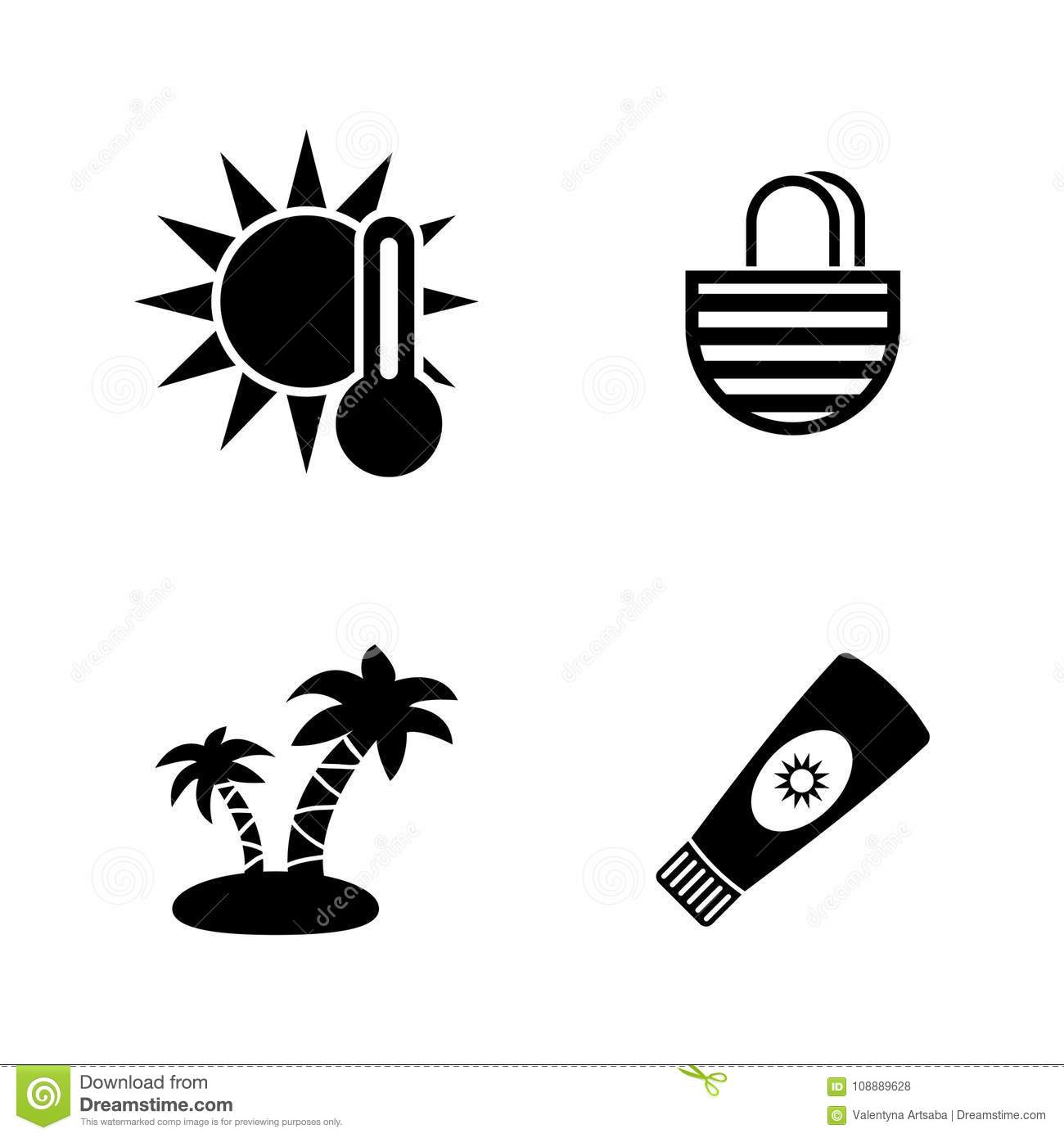 Tube With Sunbathing Cream Icon Outline Style Vector