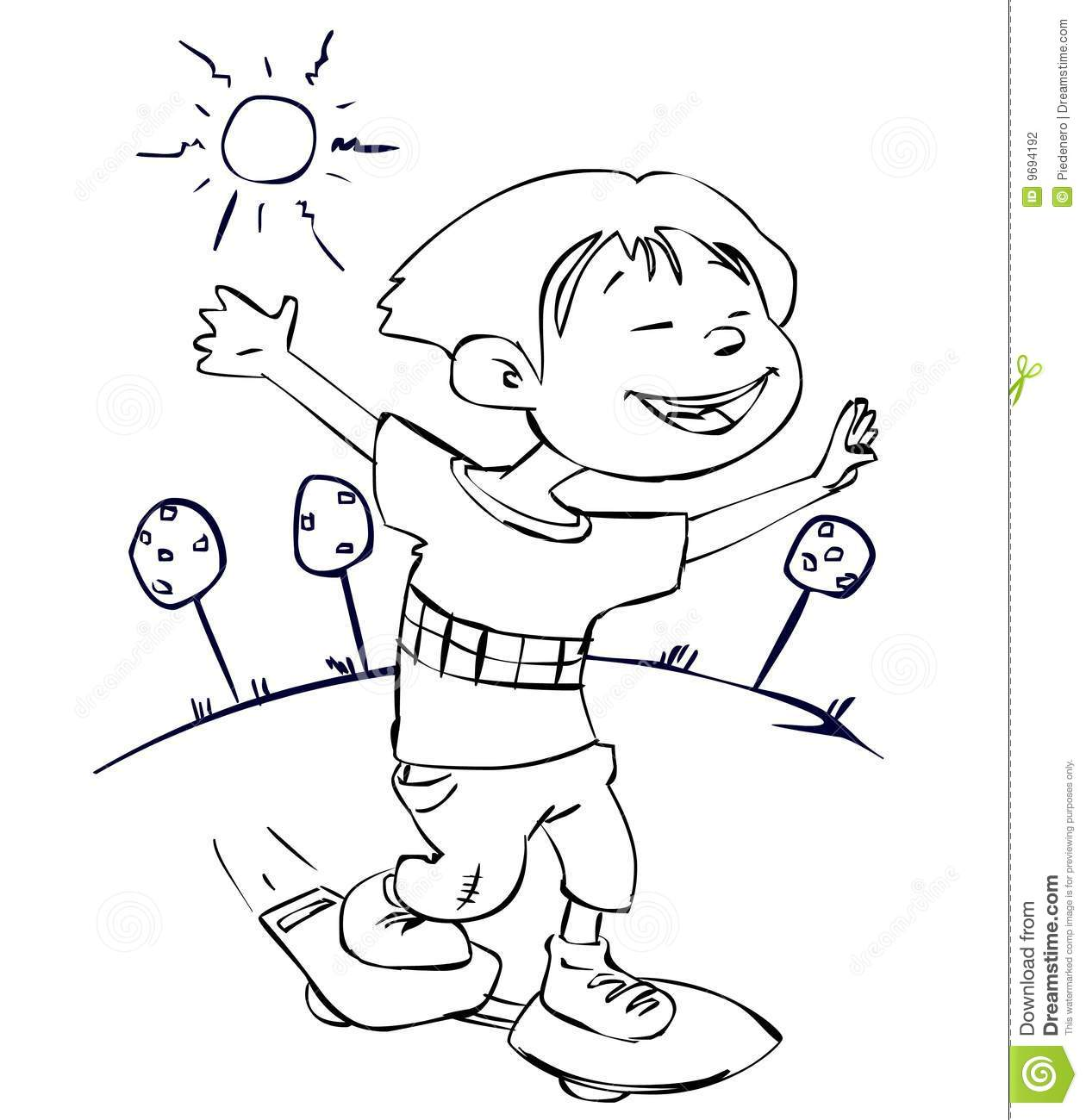 Sunny Day Stock Illustration Illustration Of Sport Happy