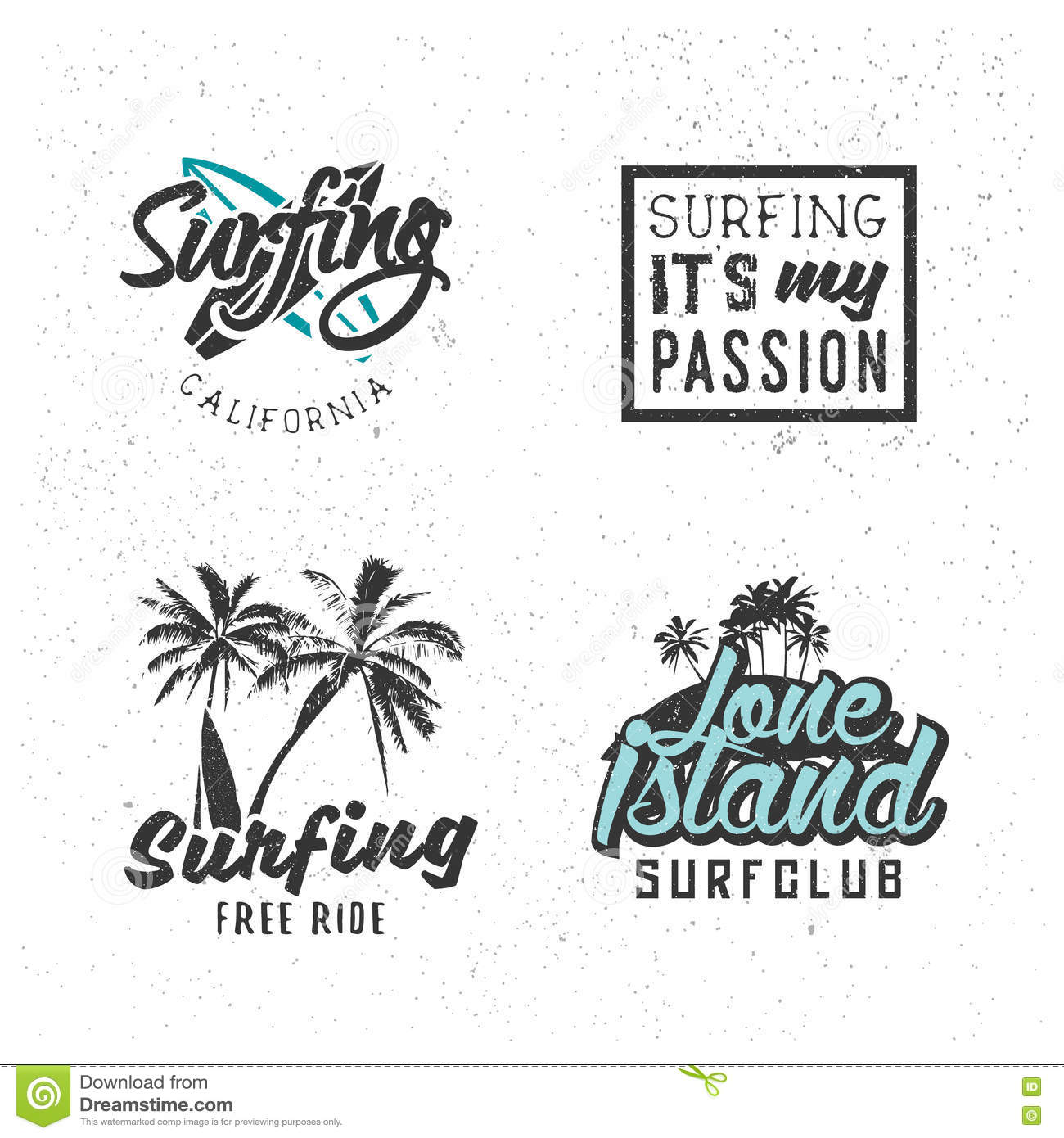 Surf Icons Stock Vector Illustration Of Party Premium