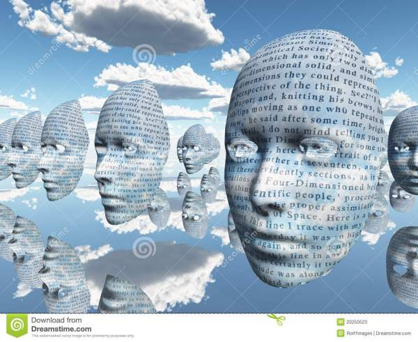 Surreal Face With Text Stock Photos Image 20250523