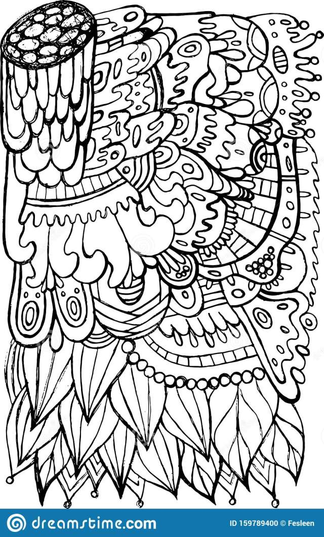 Adult Coloring Hippie Stock Illustrations – 16 Adult Coloring