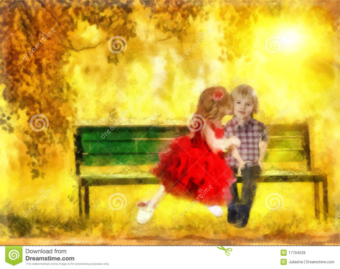 The Sweetest Kiss Stock Illustration Image Of Draw
