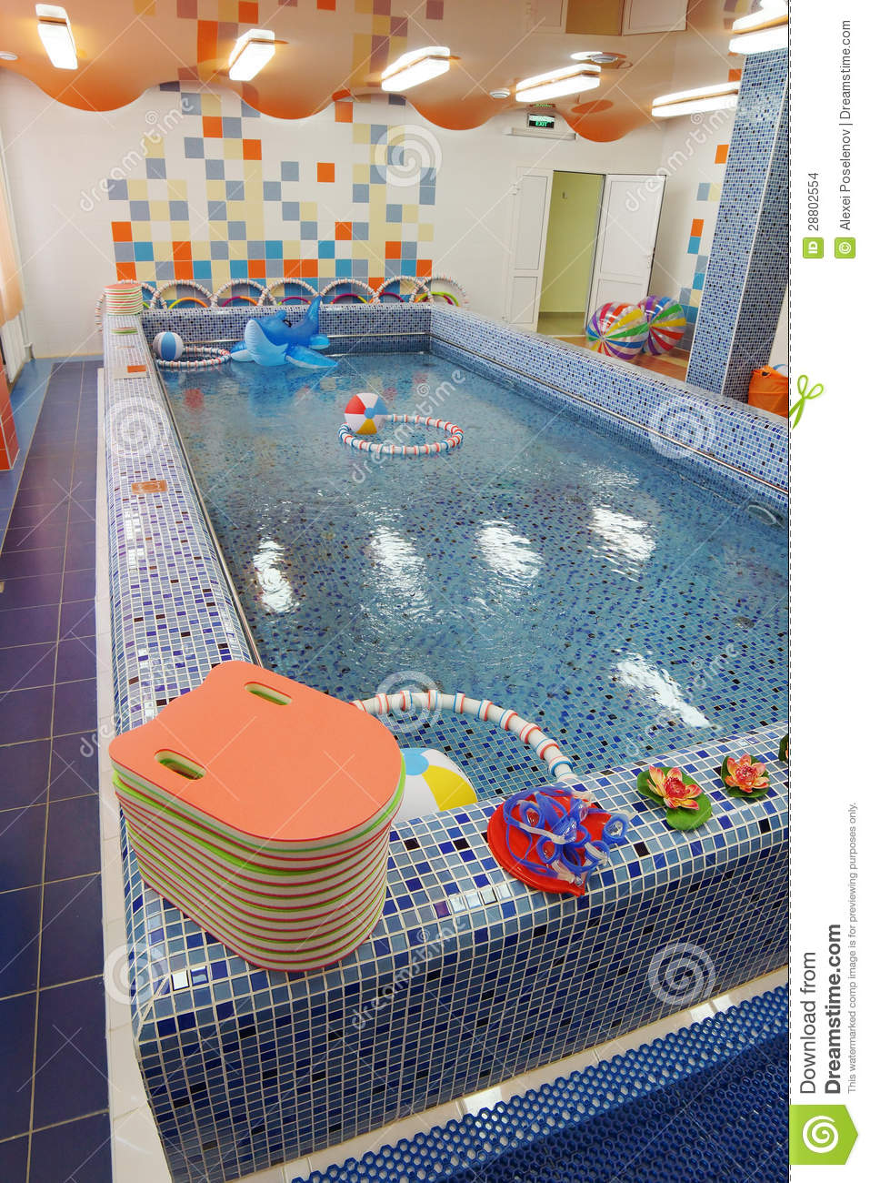Swimming Pool In A Kindergarten Stock Photo Image 28802554