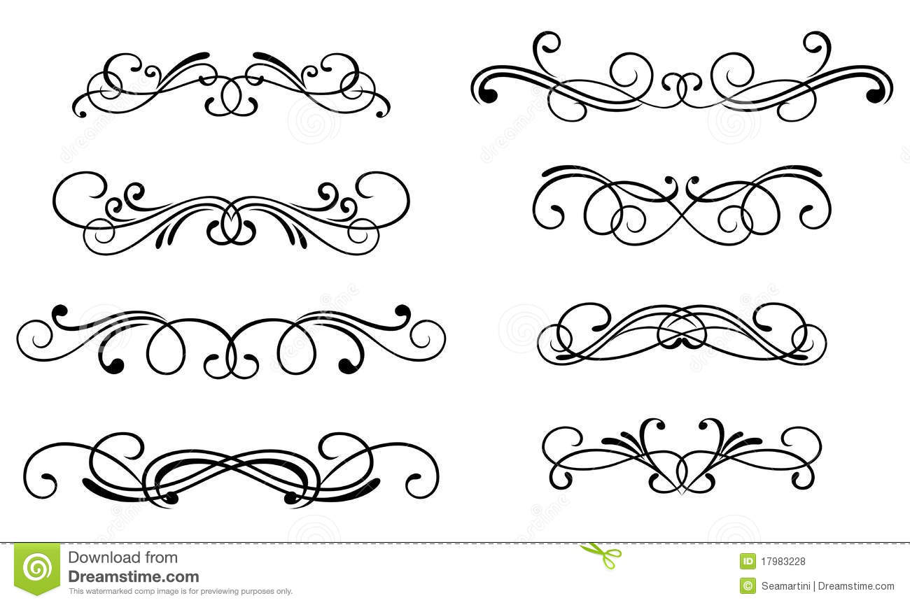 Swirl Elements Stock Vector Image Of Cartouche Element