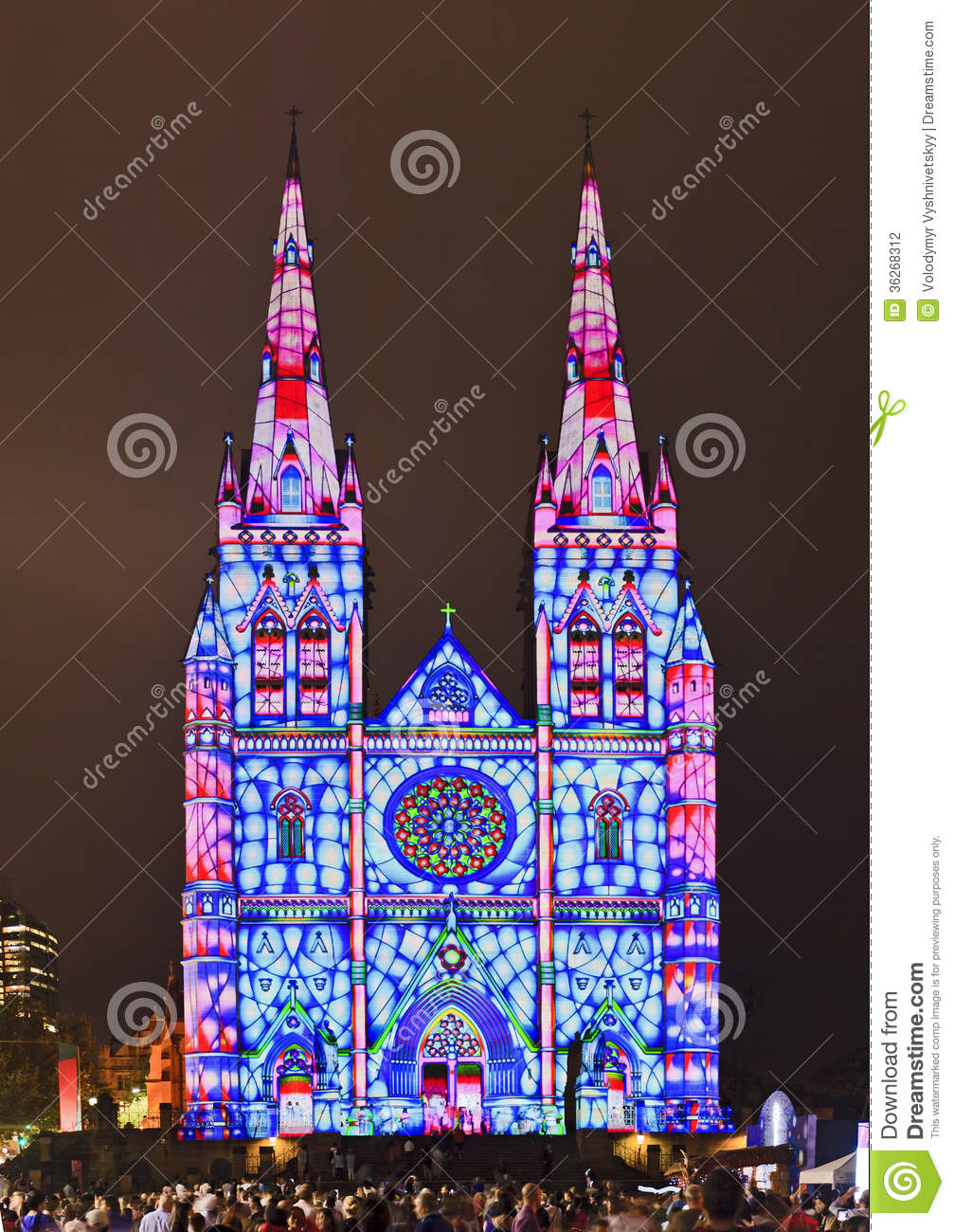 Sy St Mary Light Show BLue Stock Photography Image 36268312