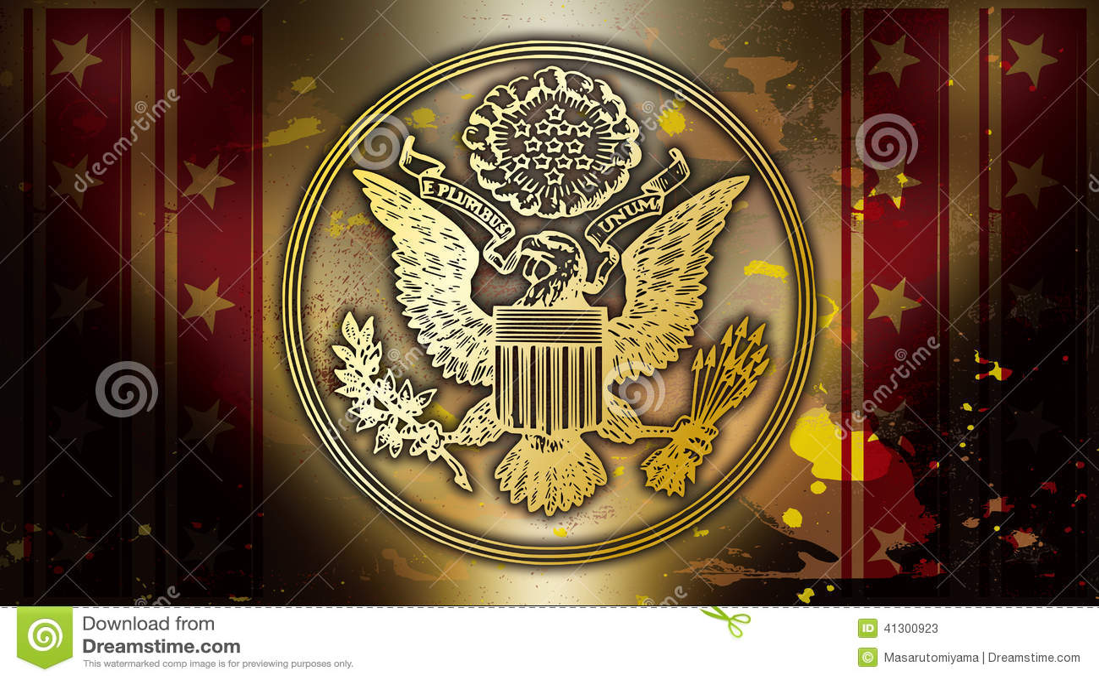 Symbol Of The United States Of Gold Stock Illustration