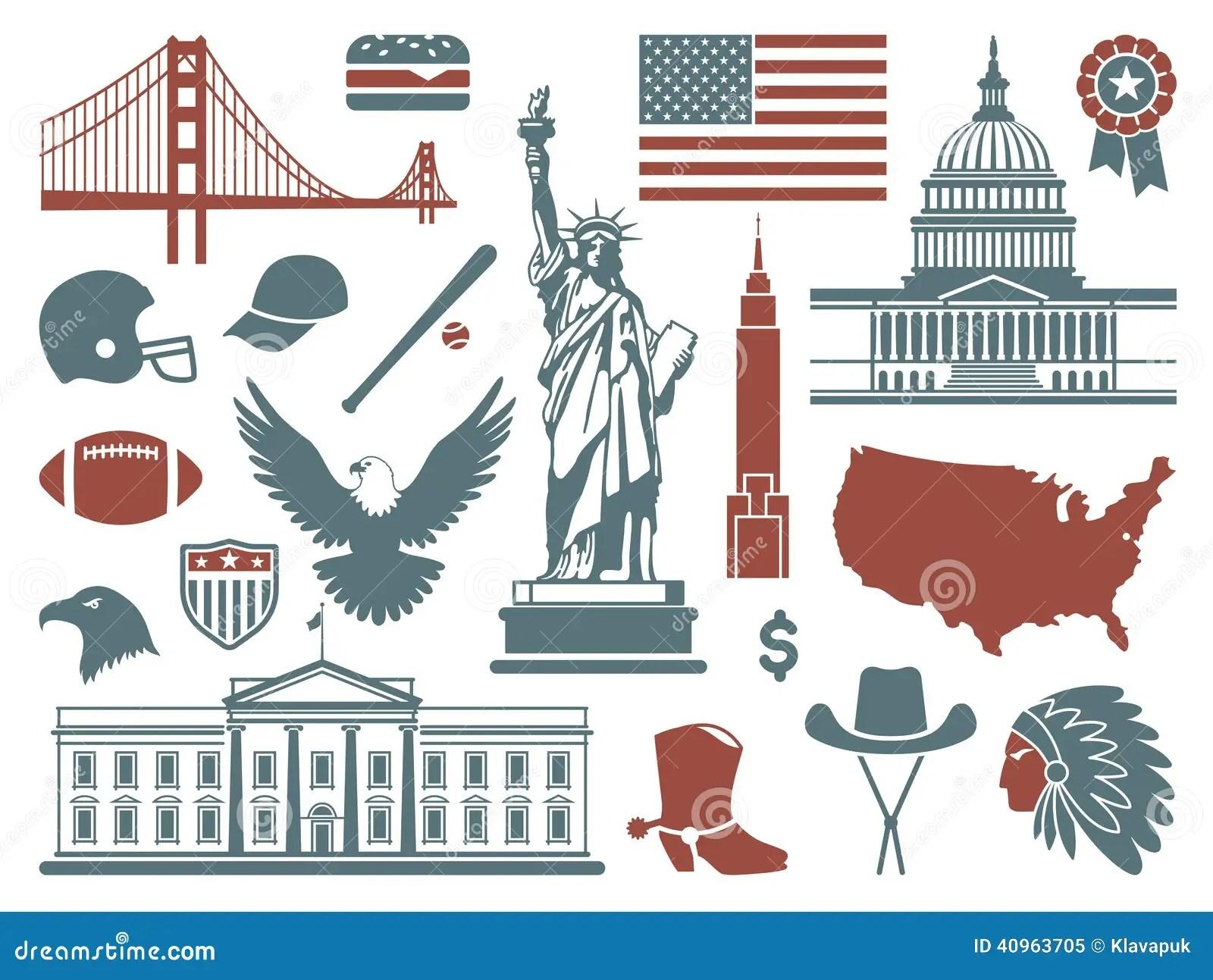 Symbols Of The Usa Stock Illustration Illustration Of