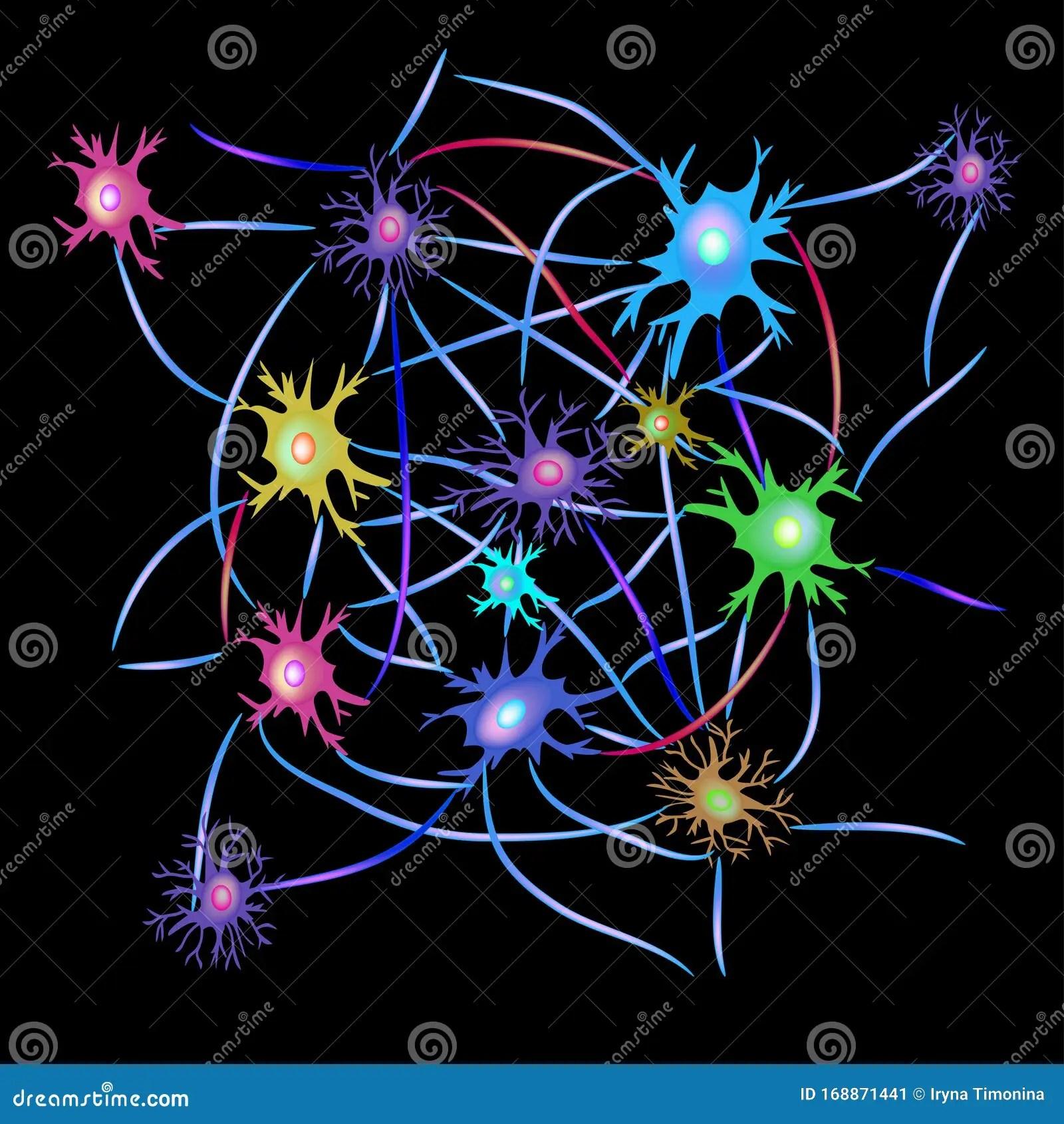 Synapsen Van Neuronen Achtergrond Voor Neurologische