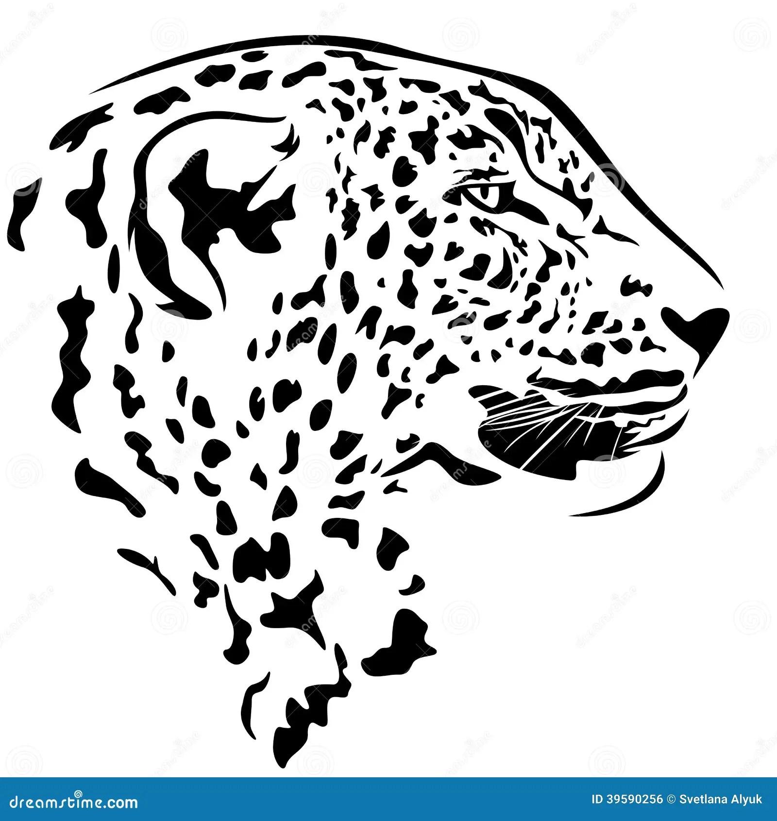 Tete De Leopard Illustration De Vecteur