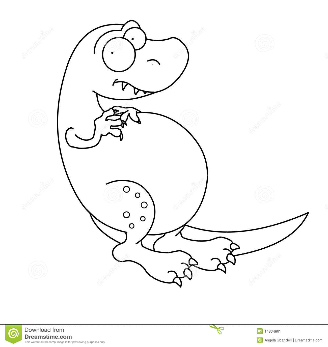 T Rex Dinosaur Black And White Stock Image