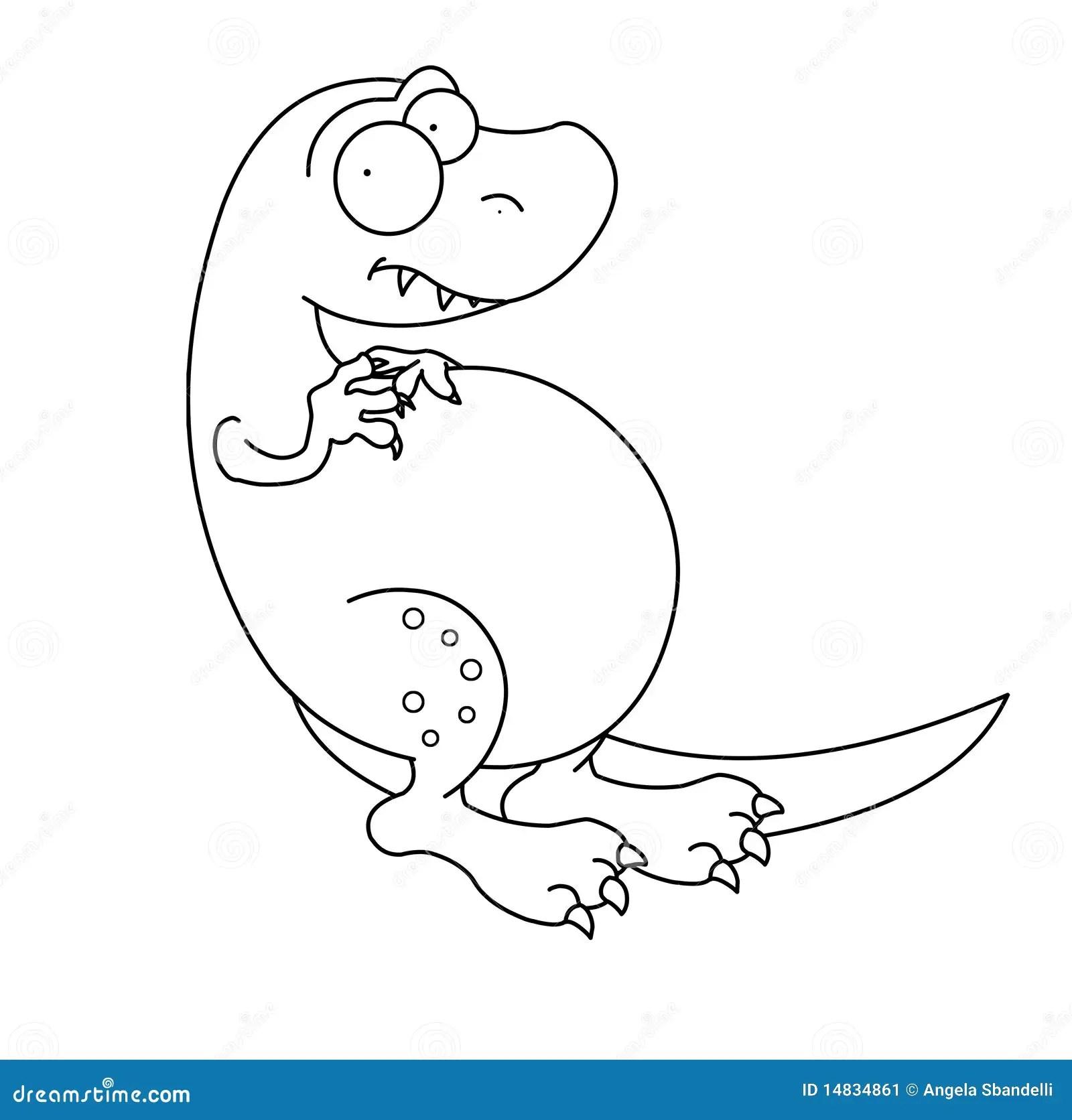 T Rex Dinosaurier Schwarzweiss Stock Abbildung