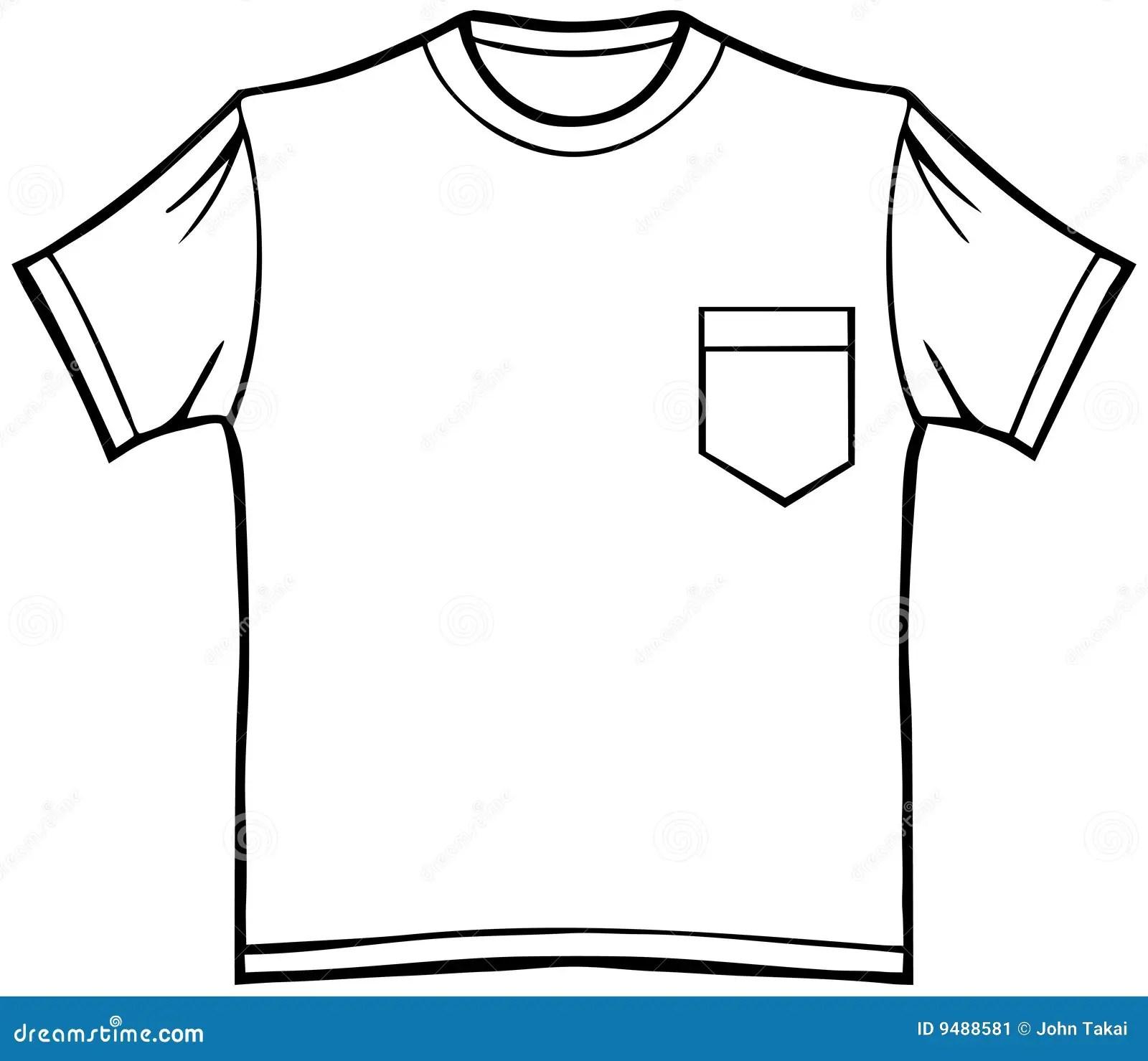 T Shirt Avec La Poche Illustration De Vecteur
