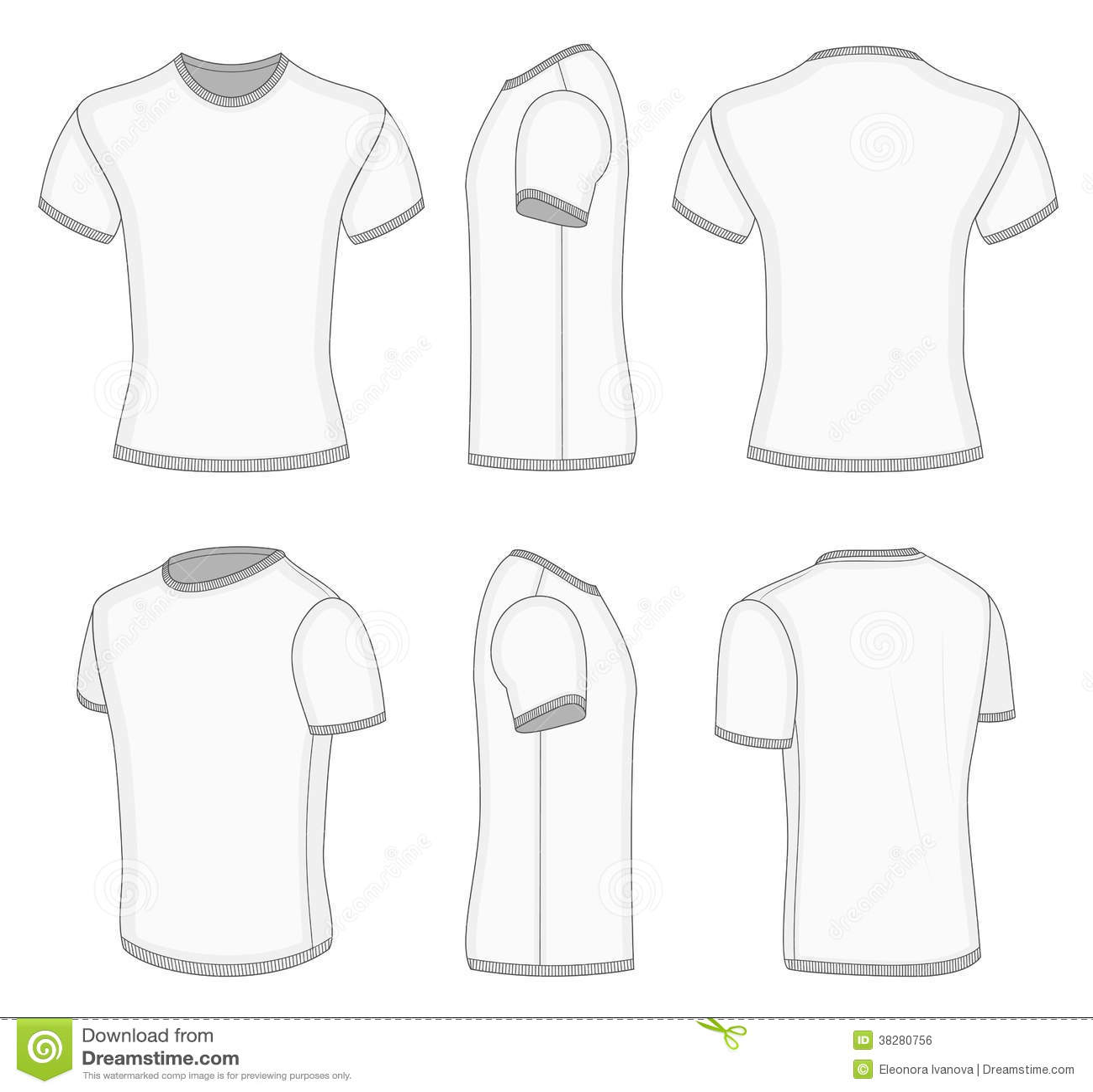 T Shirt Court Blanc De La Douille Des Hommes Illustration