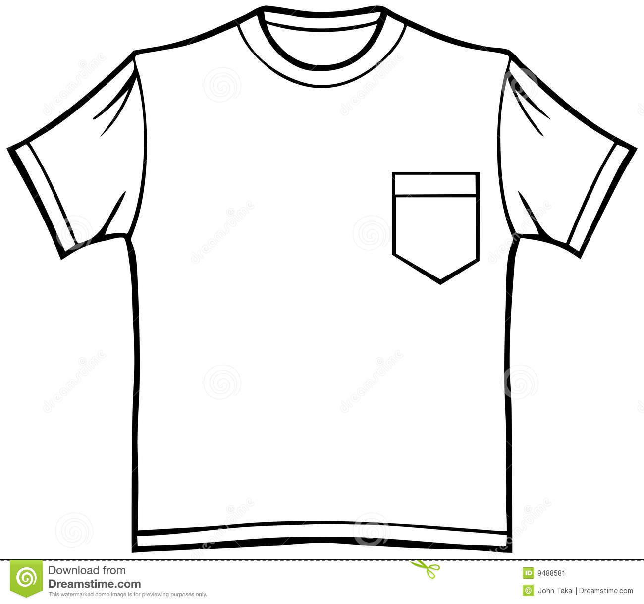 T Shirt With Pocket Stock Image