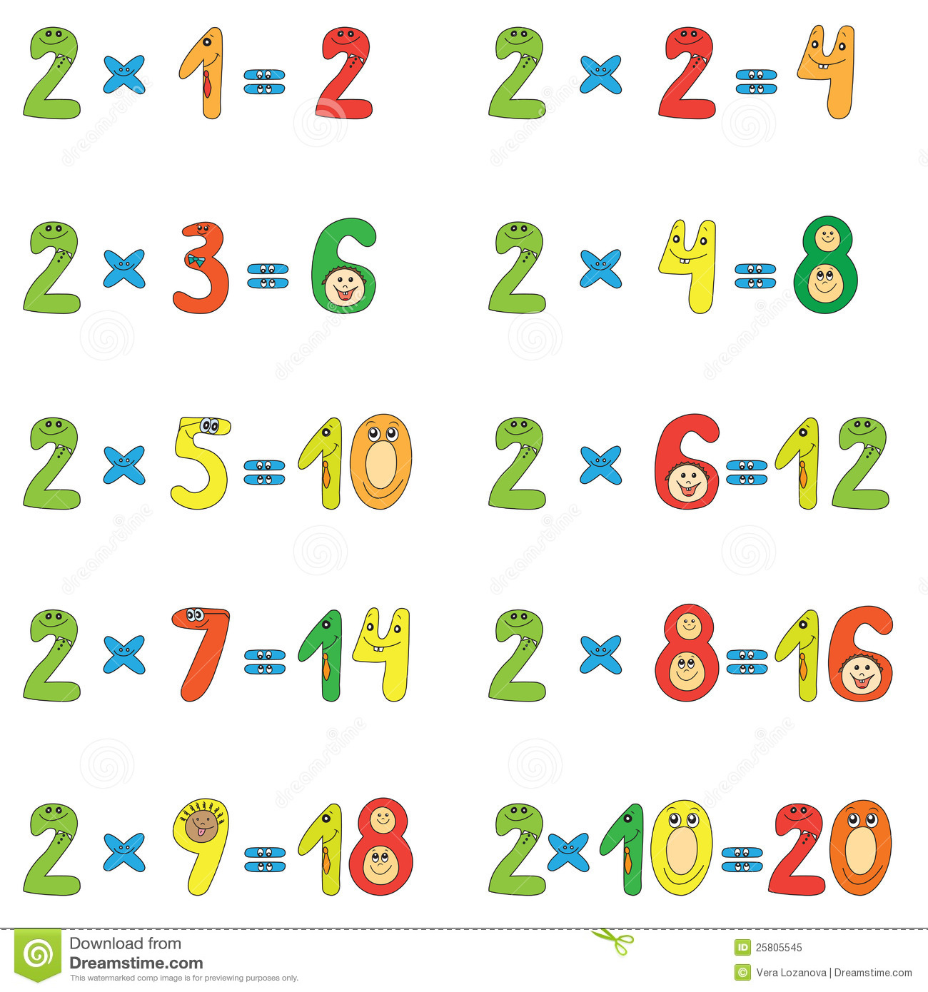 Exercice Multiplication Table 2 3 4 5