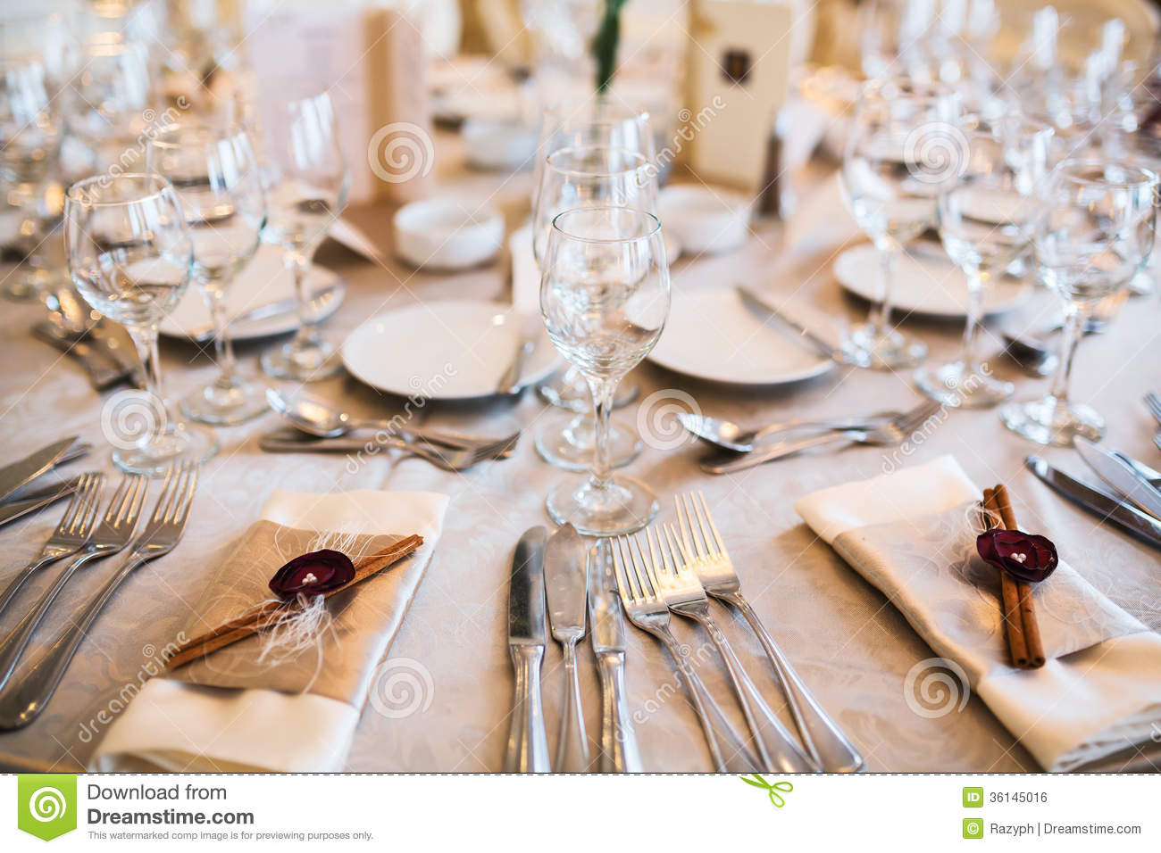 Table Setting For Event Royalty Free Stock Image Image