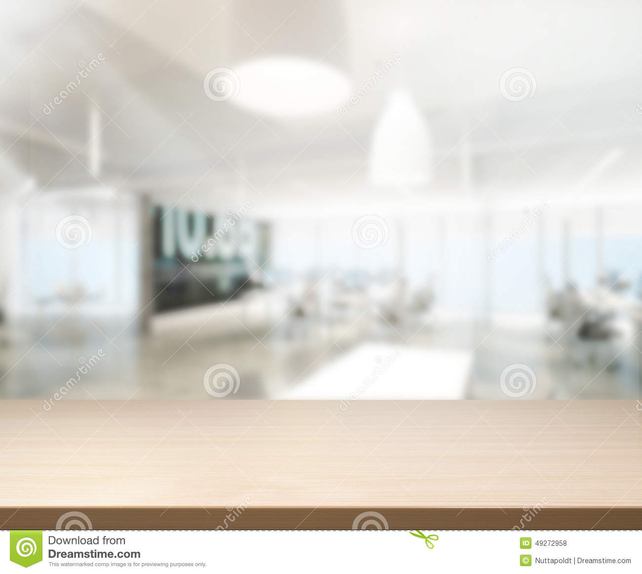 Table Top And Blur Office Background Stock Photo Image
