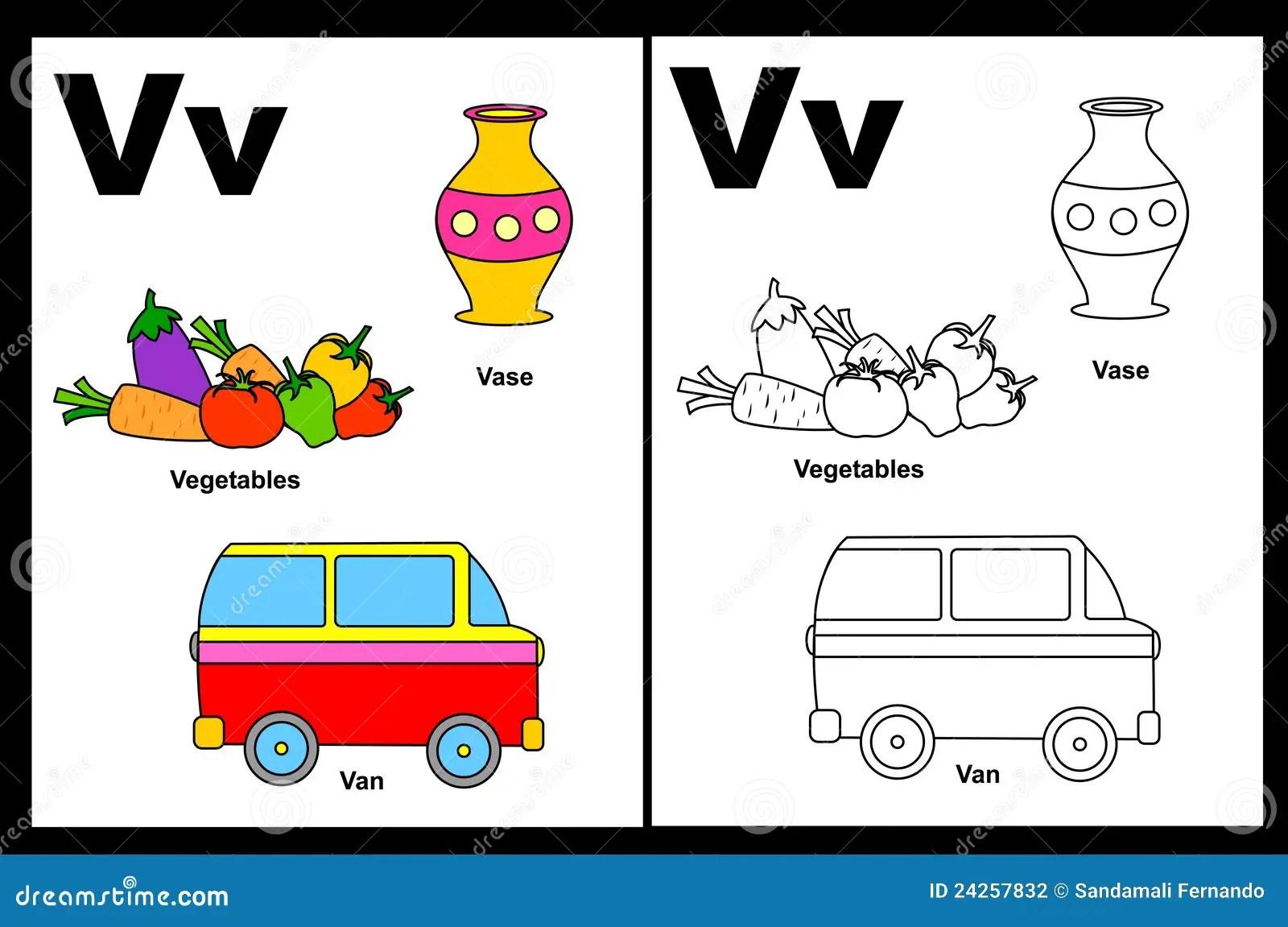 Tableau De La Lettre V Illustration De Vecteur