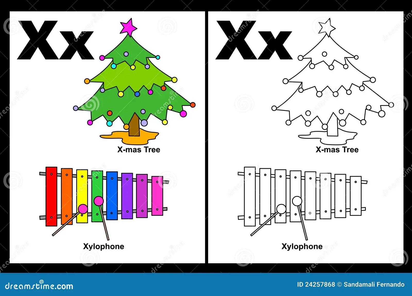 Tableau De La Lettre X Illustration De Vecteur