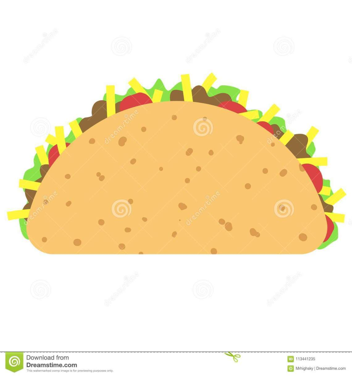 Download Taco Clipart Isolated On White Stock Vector - Illustration ...