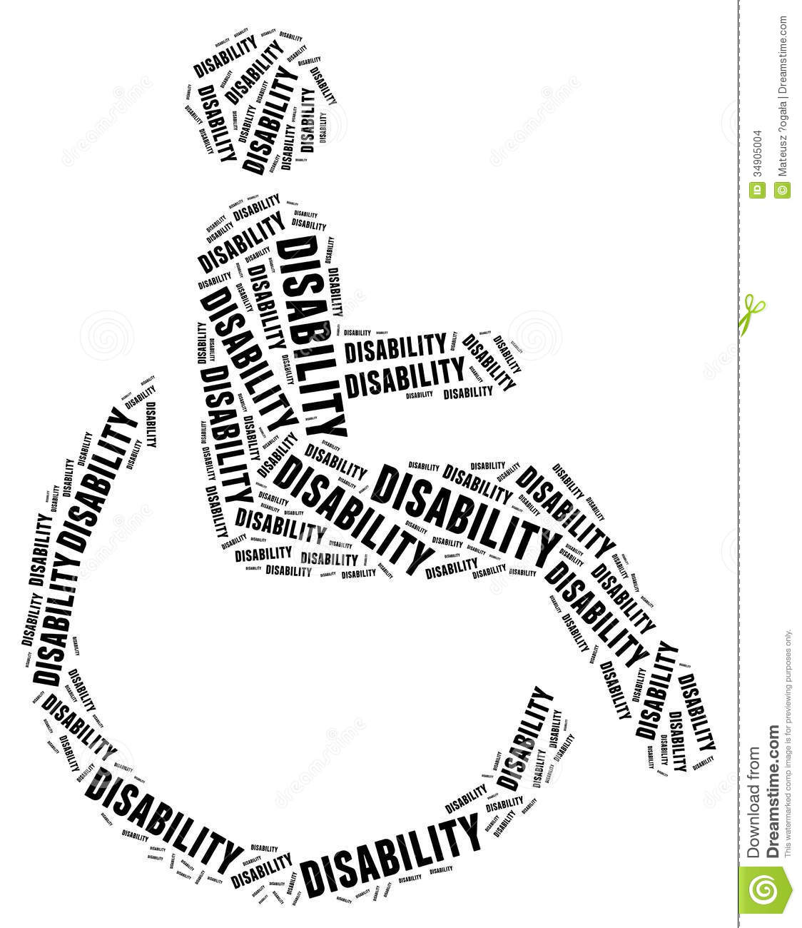 Tag Or Word Cloud Disability Related Stock Images