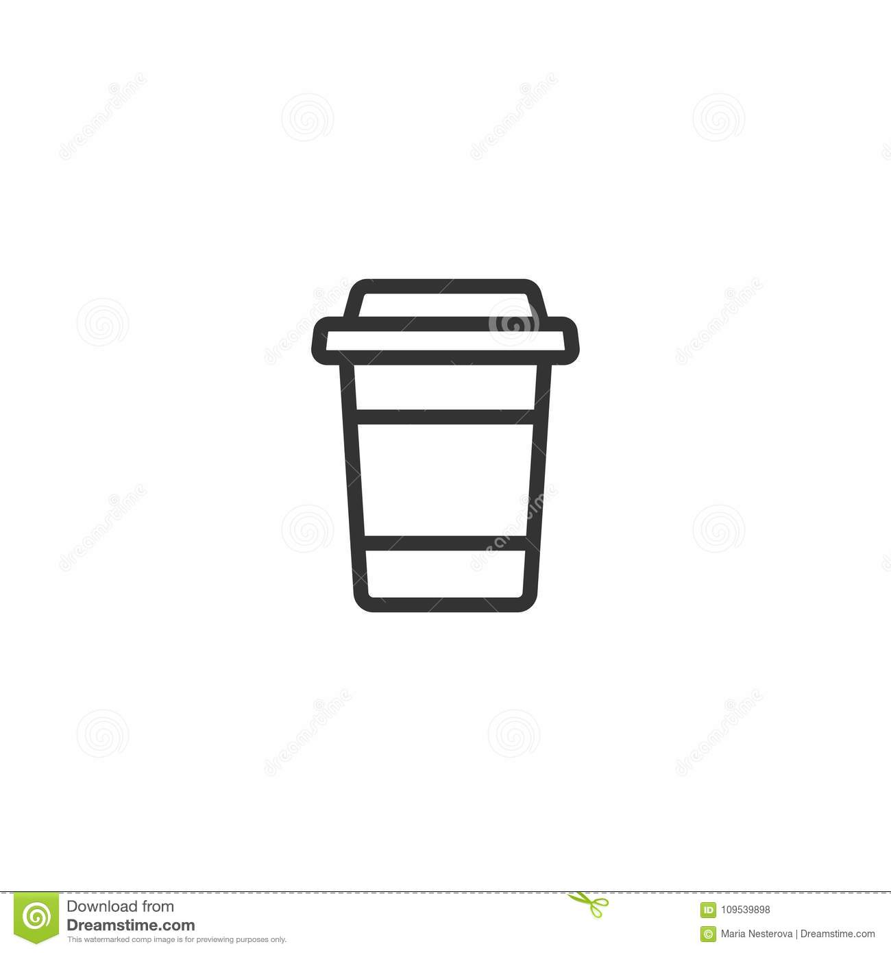 Take Out Coffee With Cap And Cup Holder Disposable
