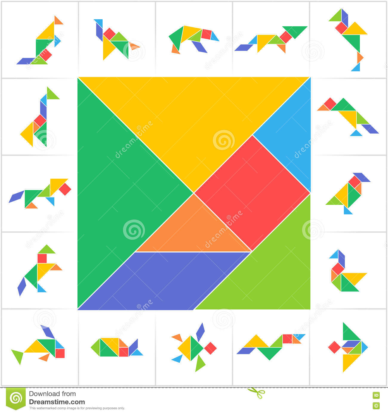 Ridiculous Printable Tangram