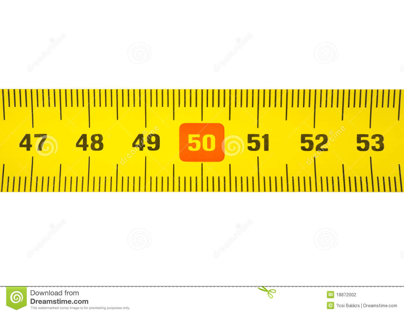 Tape Measure 50 Stock Photo Image Of White View High
