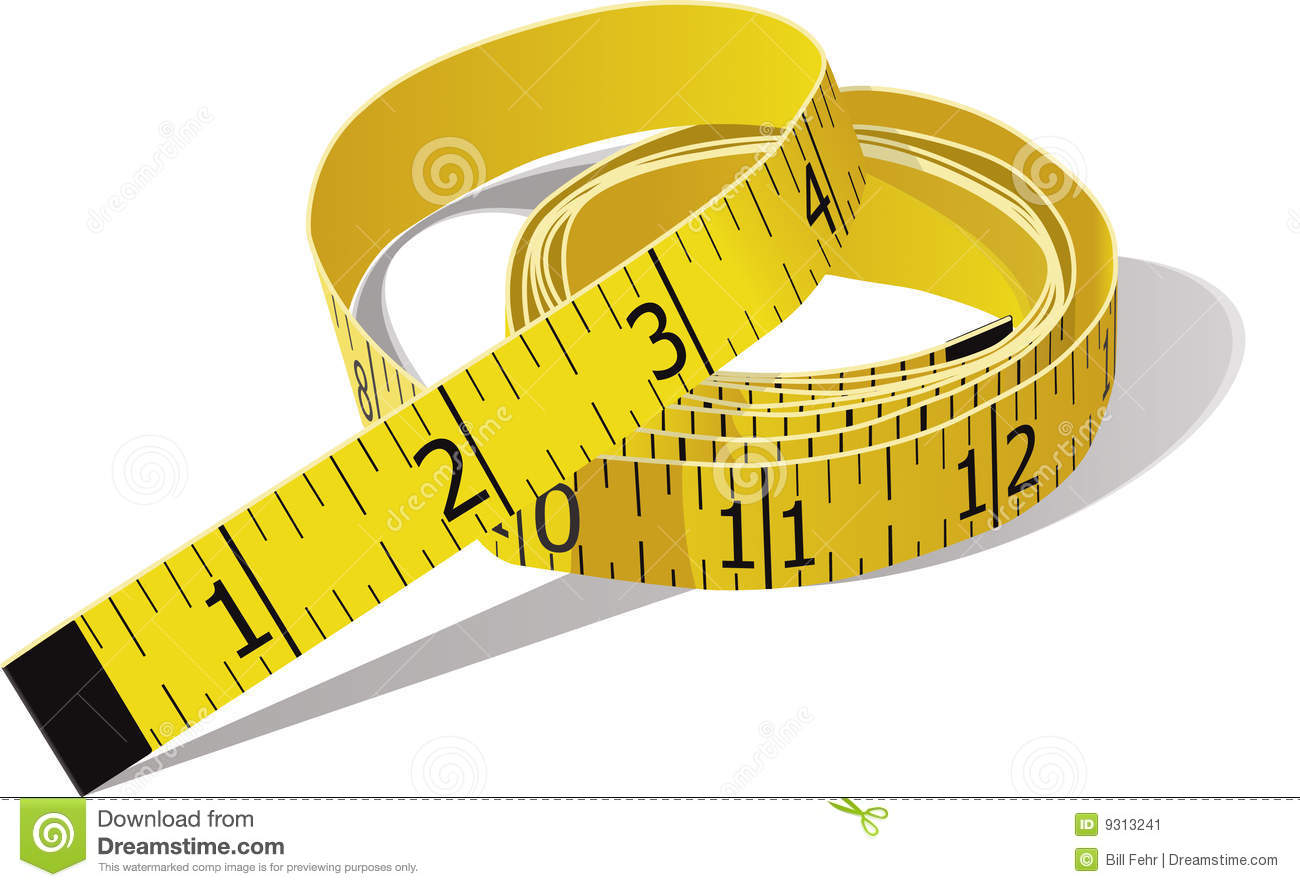 Tape Measure Stock Vector Illustration Oft Inch