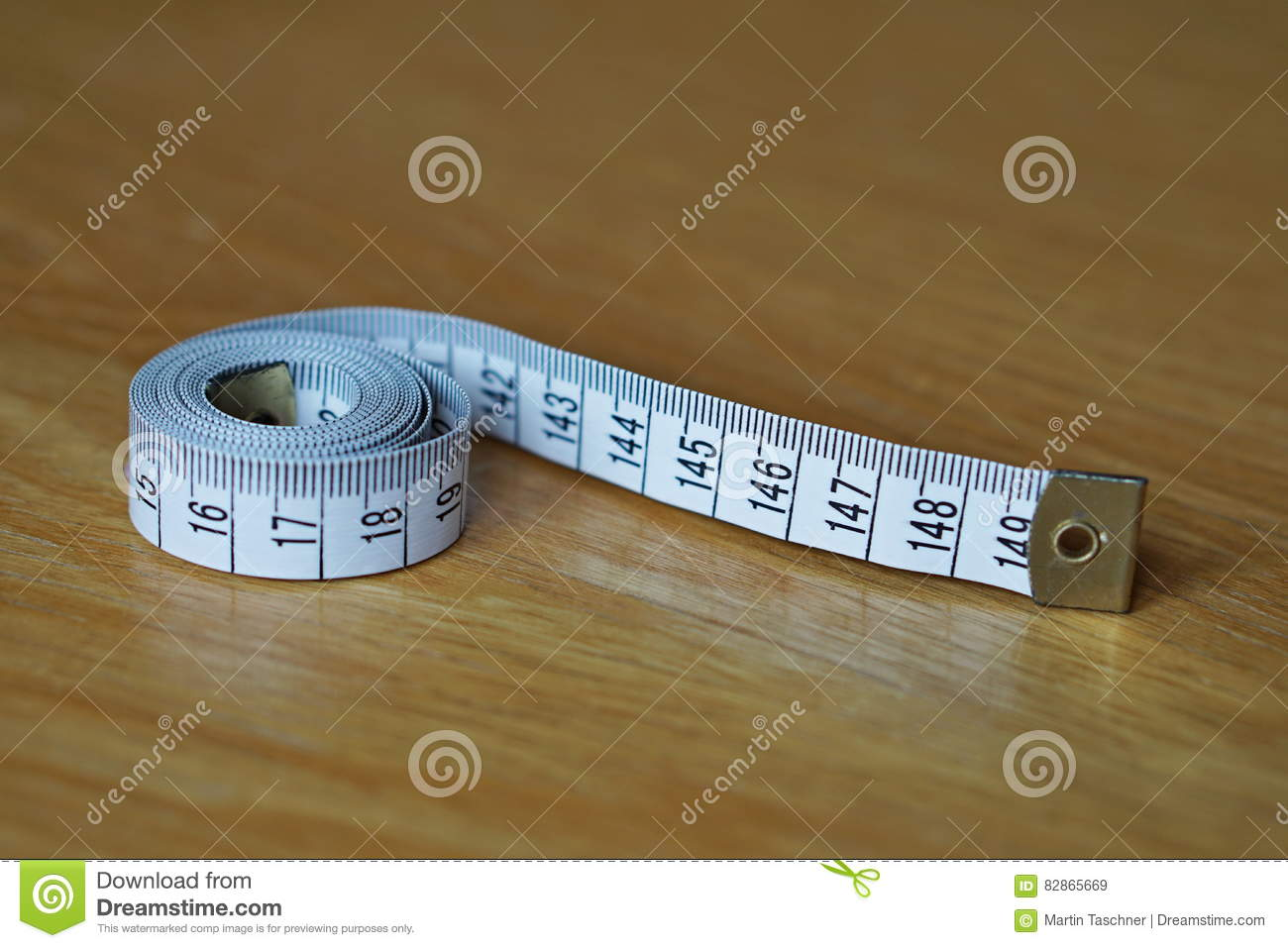Tape Measure Measuring Length In Centimeters And Meters