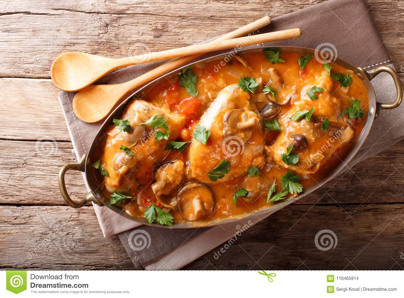 French Recipes Chicken Mushrooms