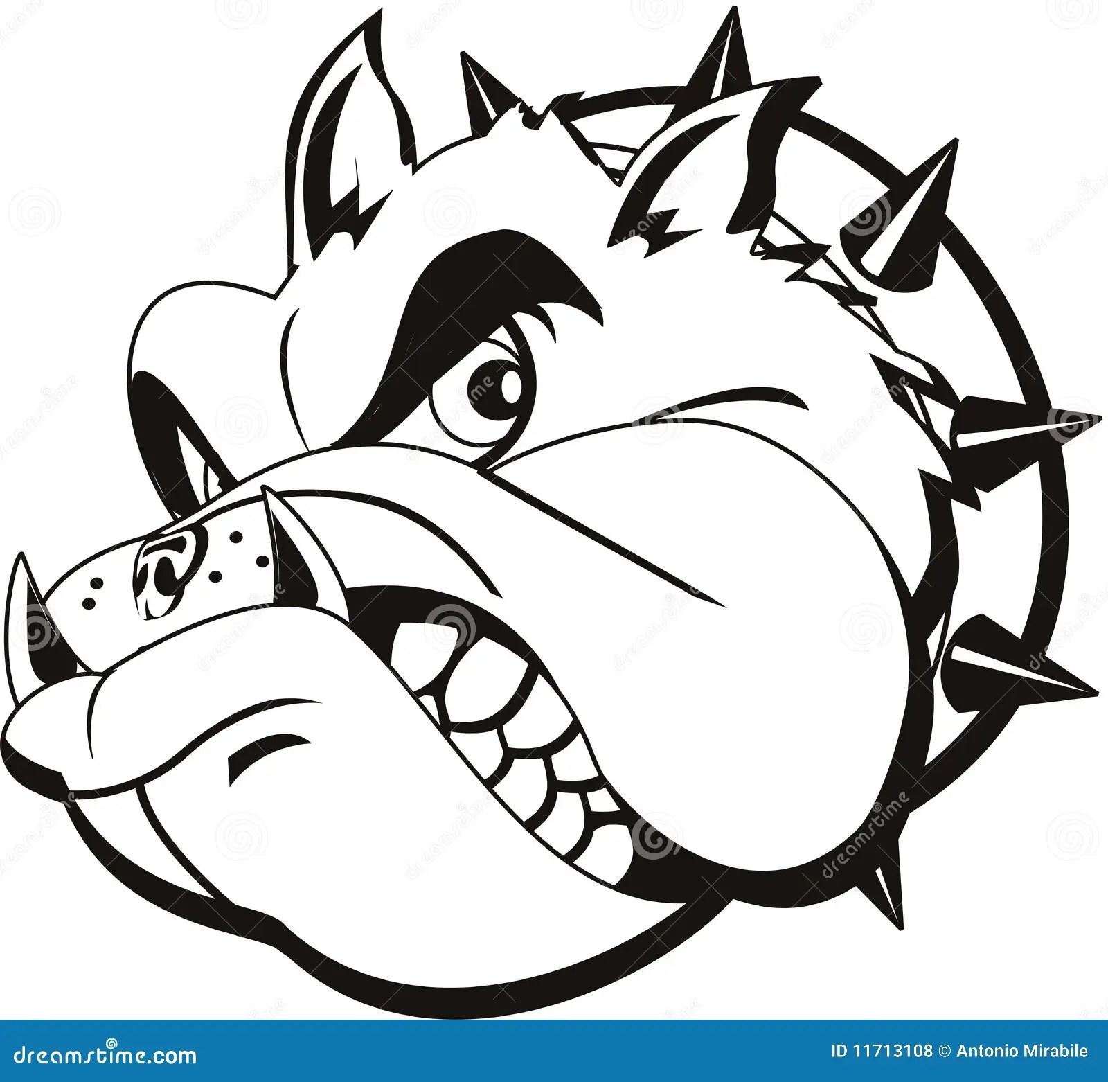 Tattoo Bulldog Stock Vector Illustration Of Gray Logo