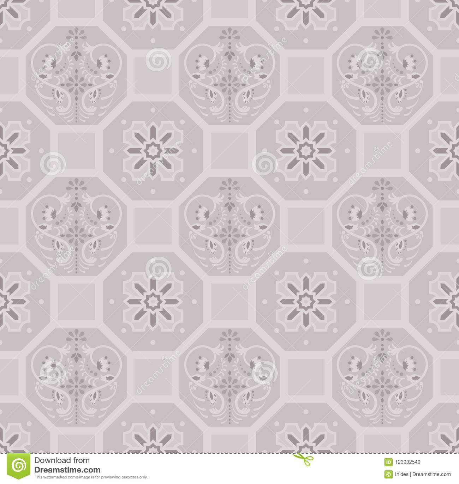 https www dreamstime com taupe floor tiles ornament vector pattern print brown colors geometric hexagonal seamless backdrop image123932549