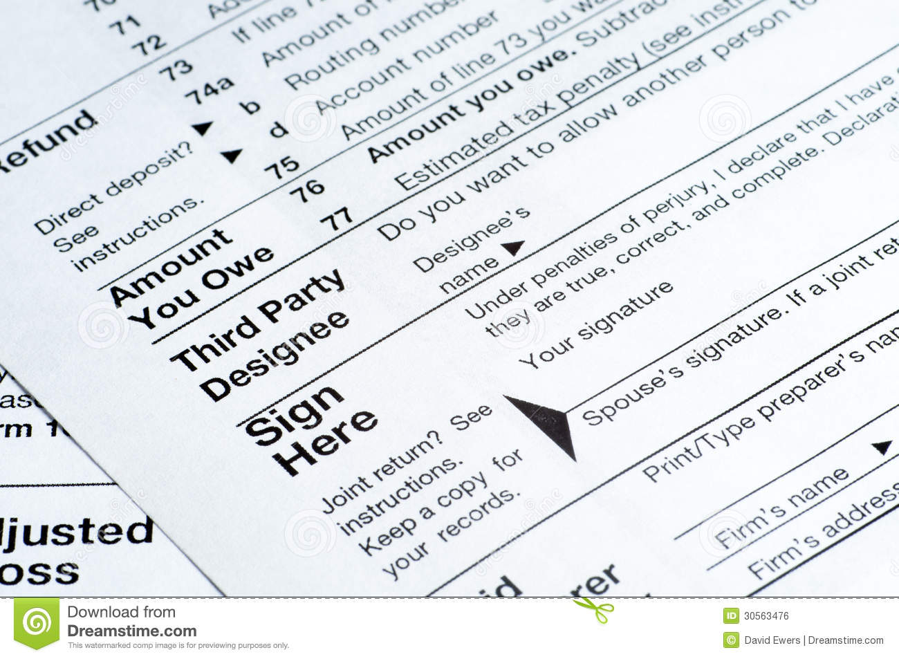 Tax Forms Royalty Free Stock Image