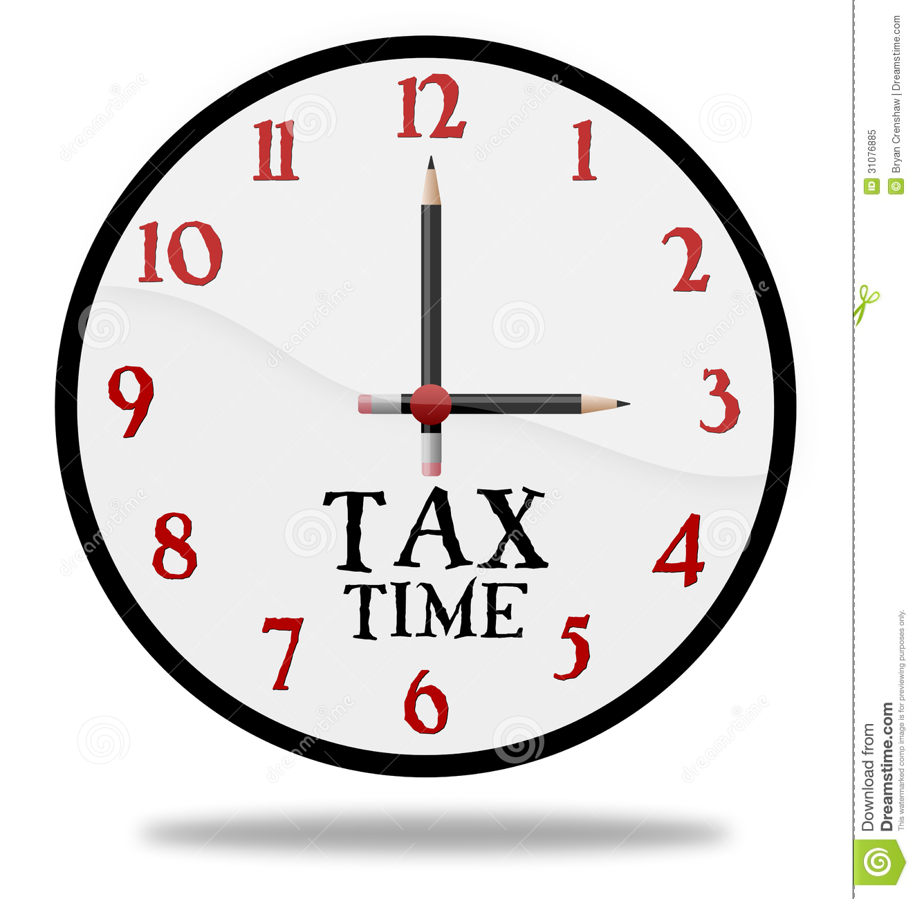 Tax Time Clock Stock Image Image Of Minutes Illustrated