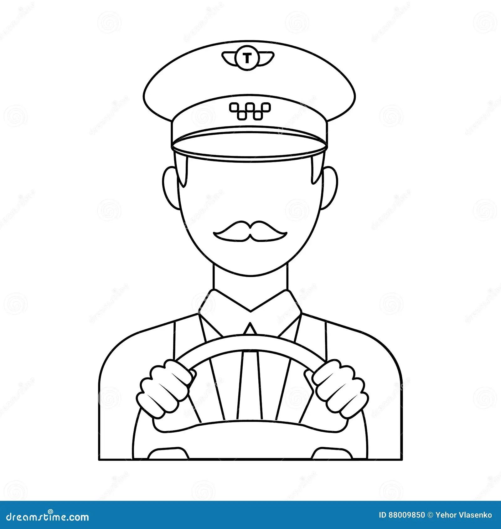 Taxi Driver Wearing A Cap Man Is Driving A Taxi Car Taxi