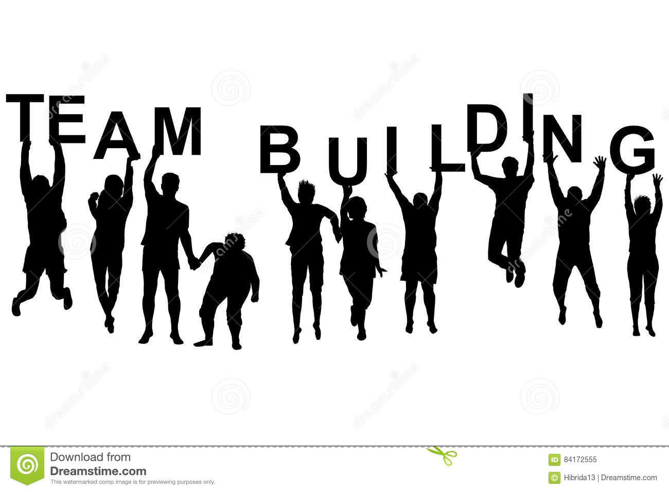 Team Building Concept Stock Vector Illustration Of Office