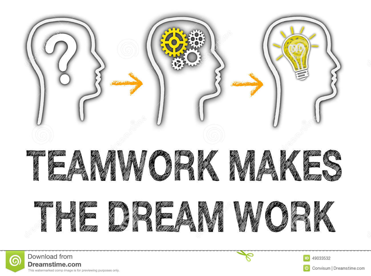 Teamwork Makes The Dream Work Stock Illustration