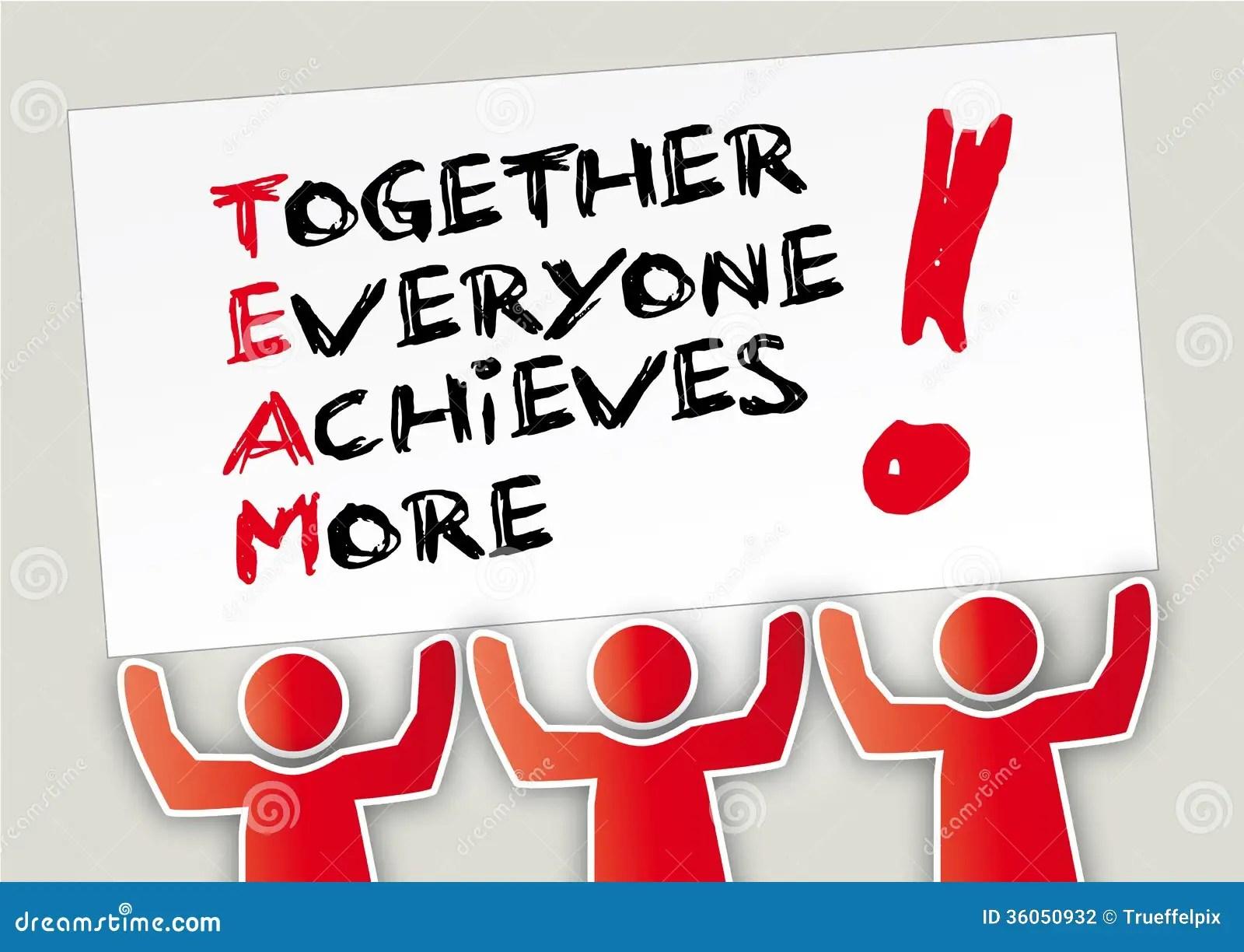 Teamwork Together Stock Illustration Image Of Motivation