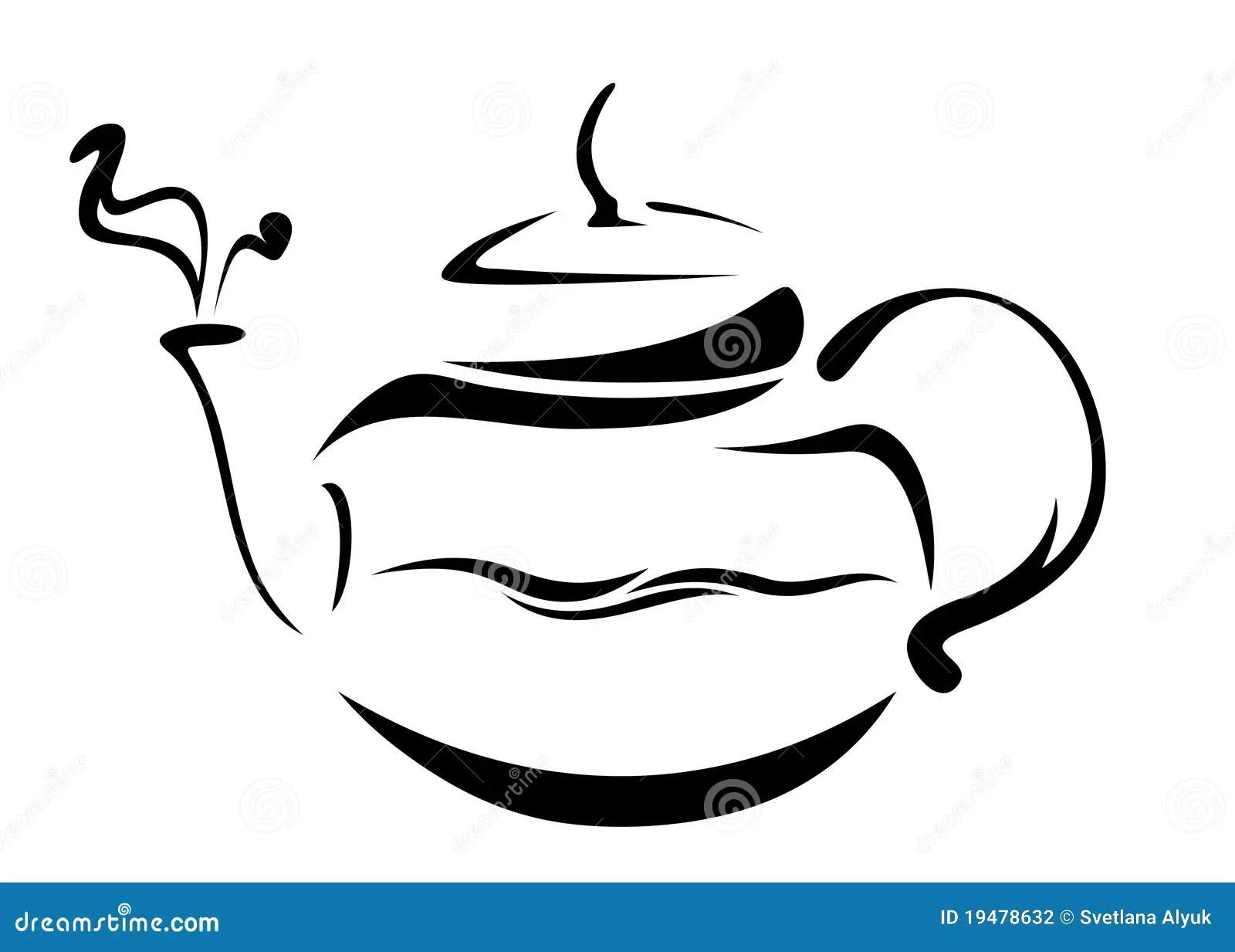 Teapot Vector Stock Photography