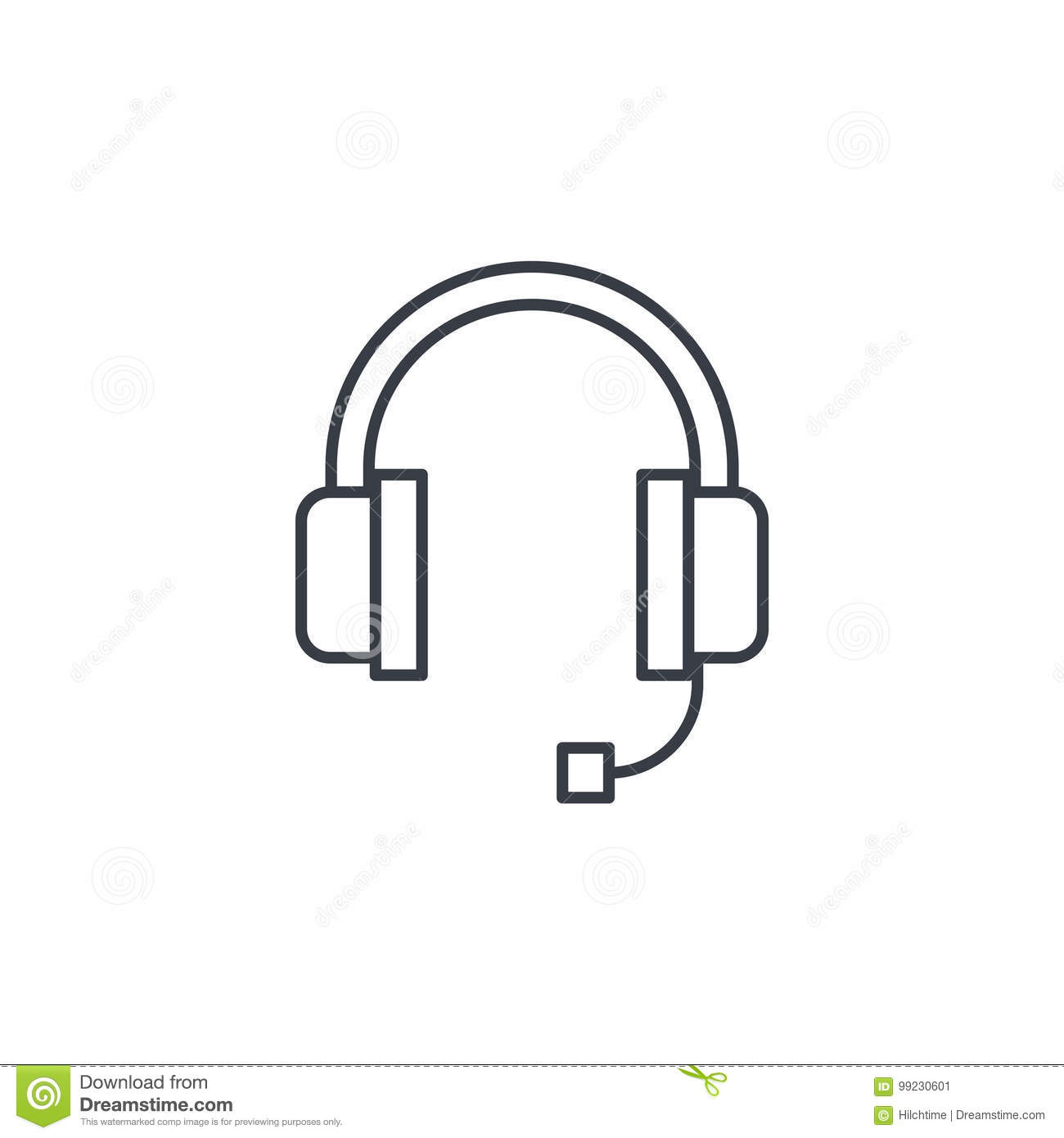 Technical Support Headphones Microphone Operator Thin
