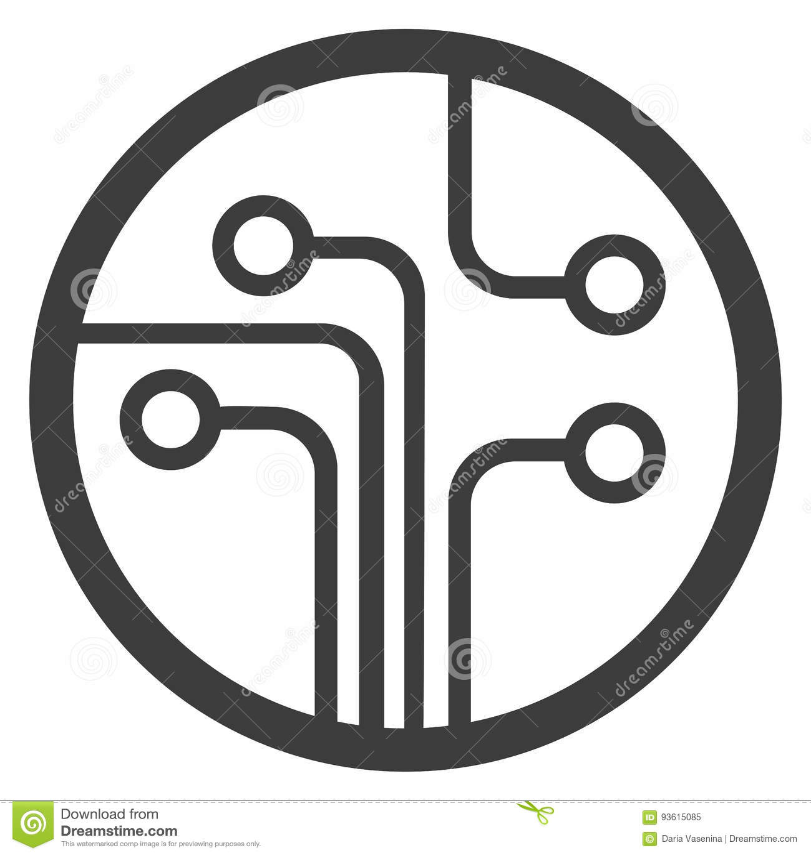 Technology Scheme Symbol Flat Vector Illustration Stock