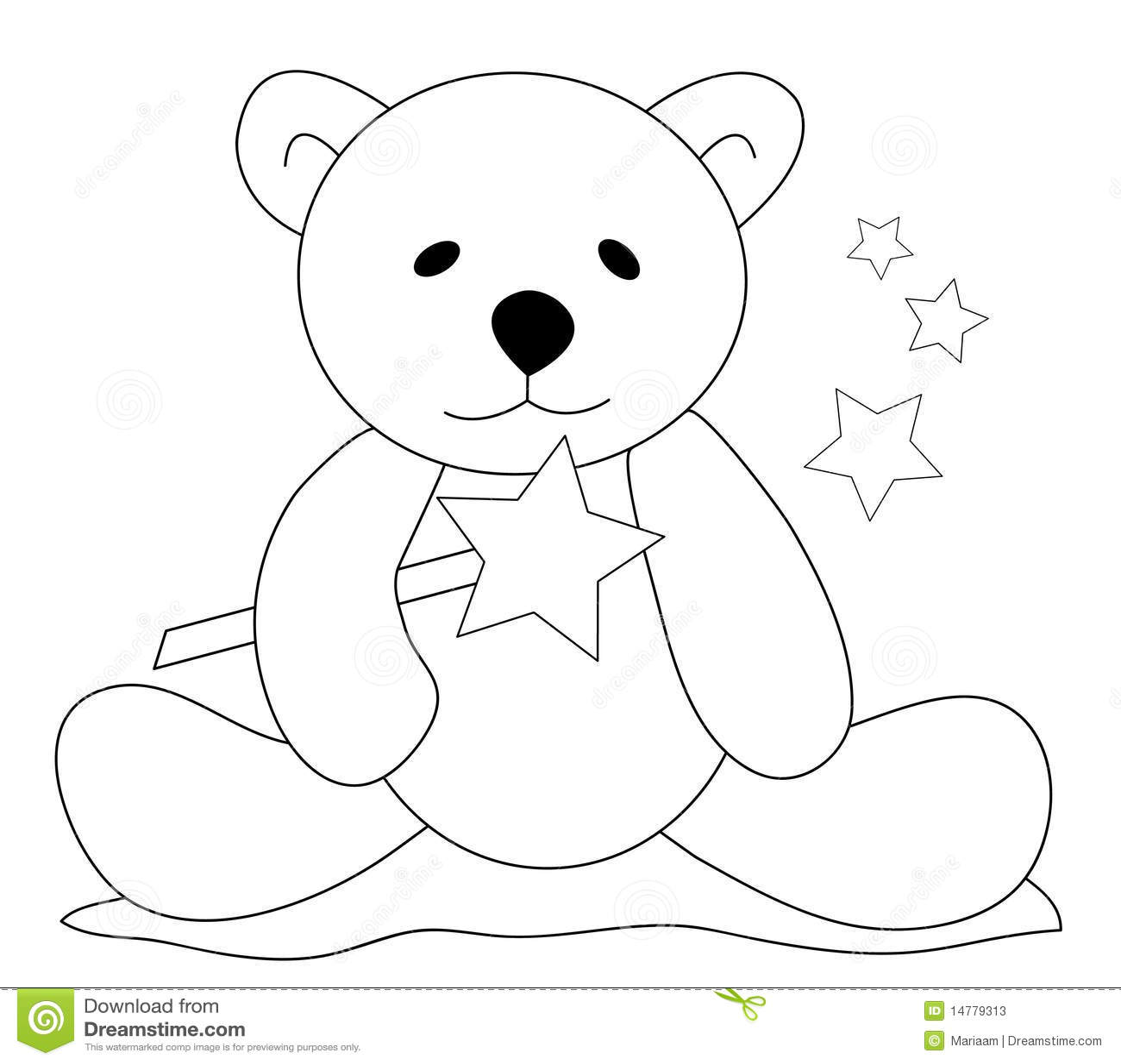 Teddy Bear With Magic Wand Stock Photos