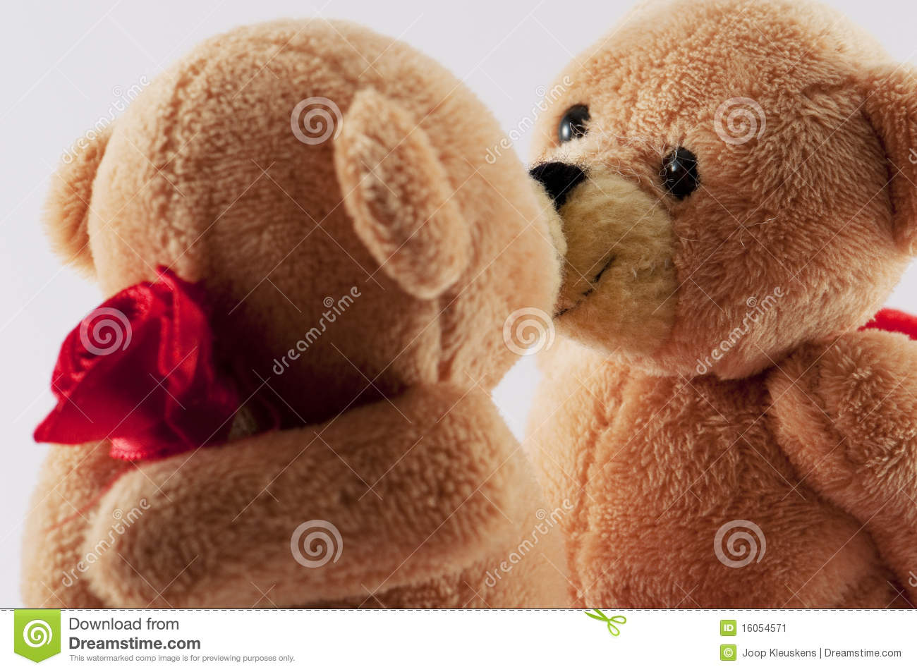 Teddy Bears Kissing Stock Image Image 16054571