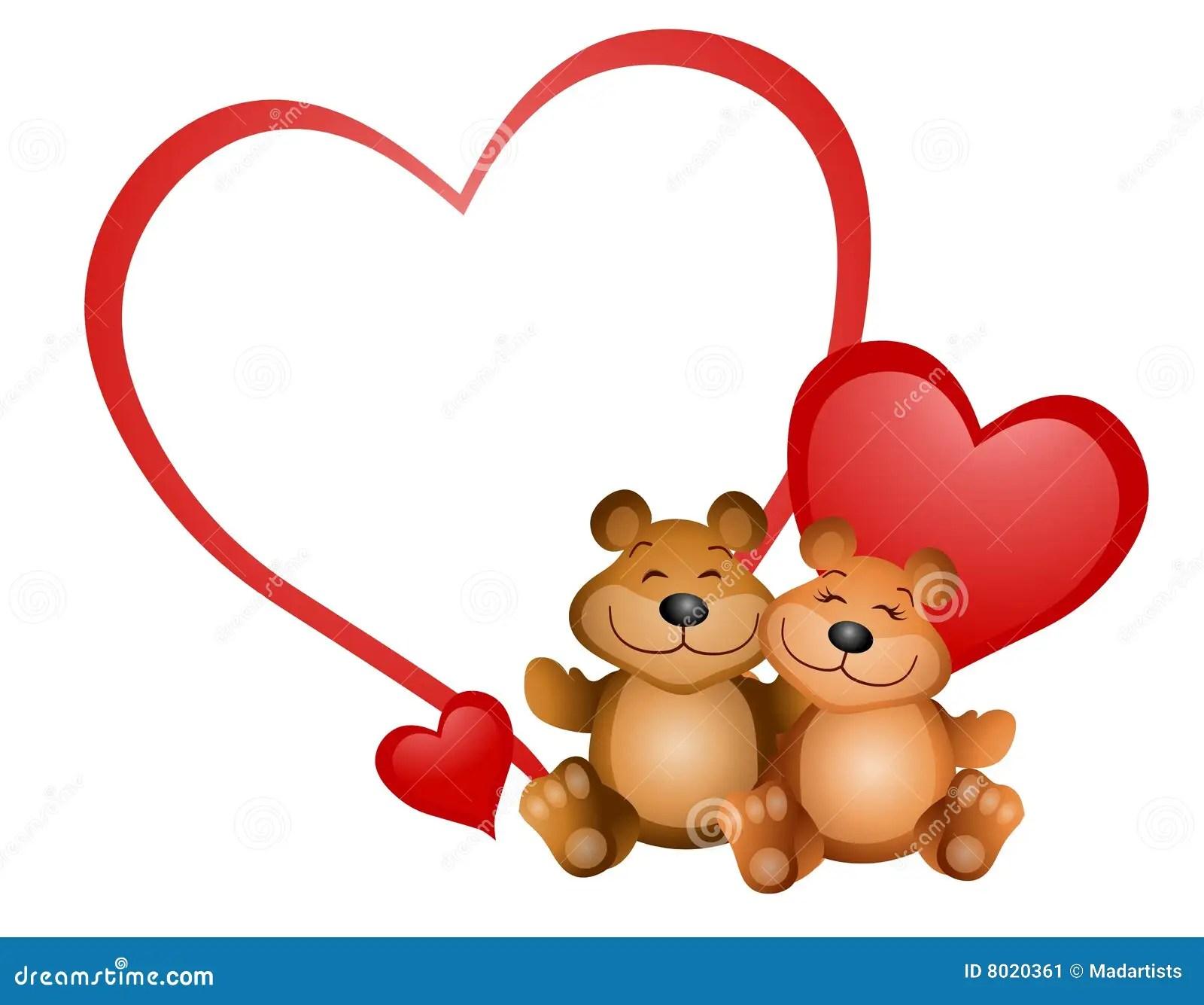 Teddybar Valentinsgru 2 Stock Abbildung Illustration Von