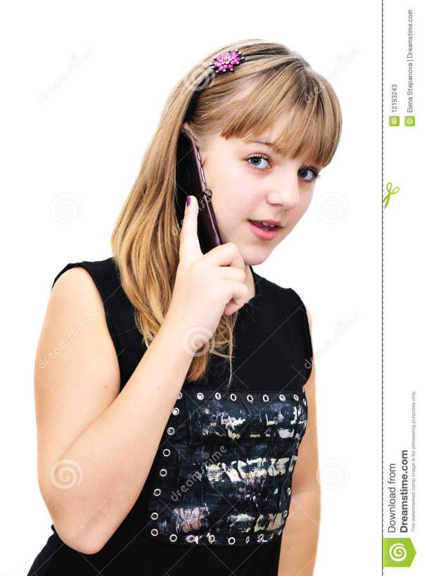 Teenager Girl With Mobile Phone Stock Photos Image 12193243