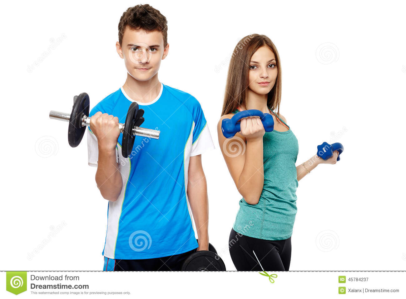 Teens Doing Fitness Stock Image Image Of Male People