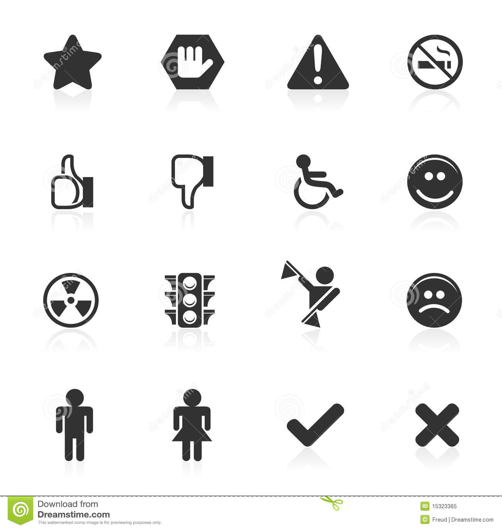 Tekens Amp De Pictogrammen Van Symbolen