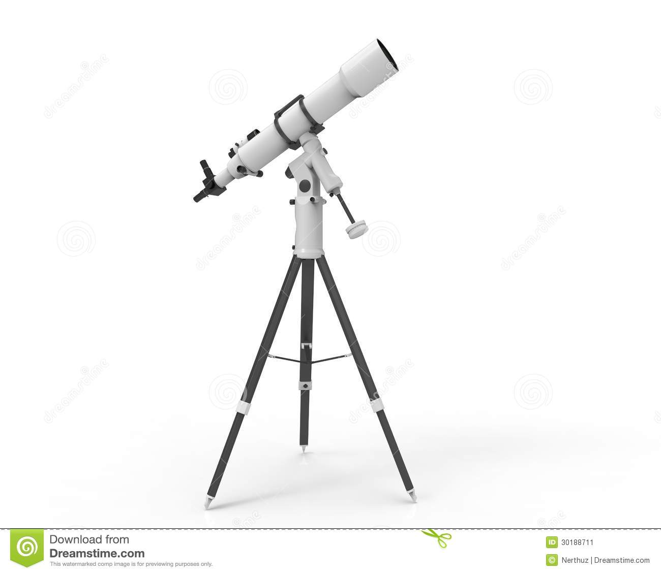 Telescope Isolated On White Background Stock Image
